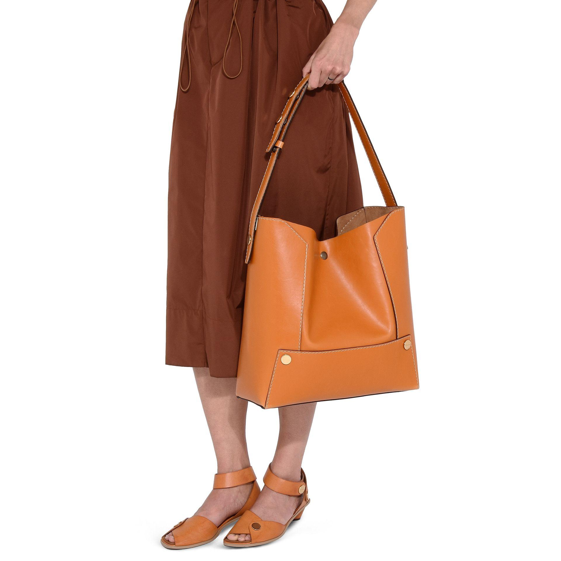 7279b9c99e37 Lyst - Stella McCartney Honey Stella Popper Hobo Bag in Yellow