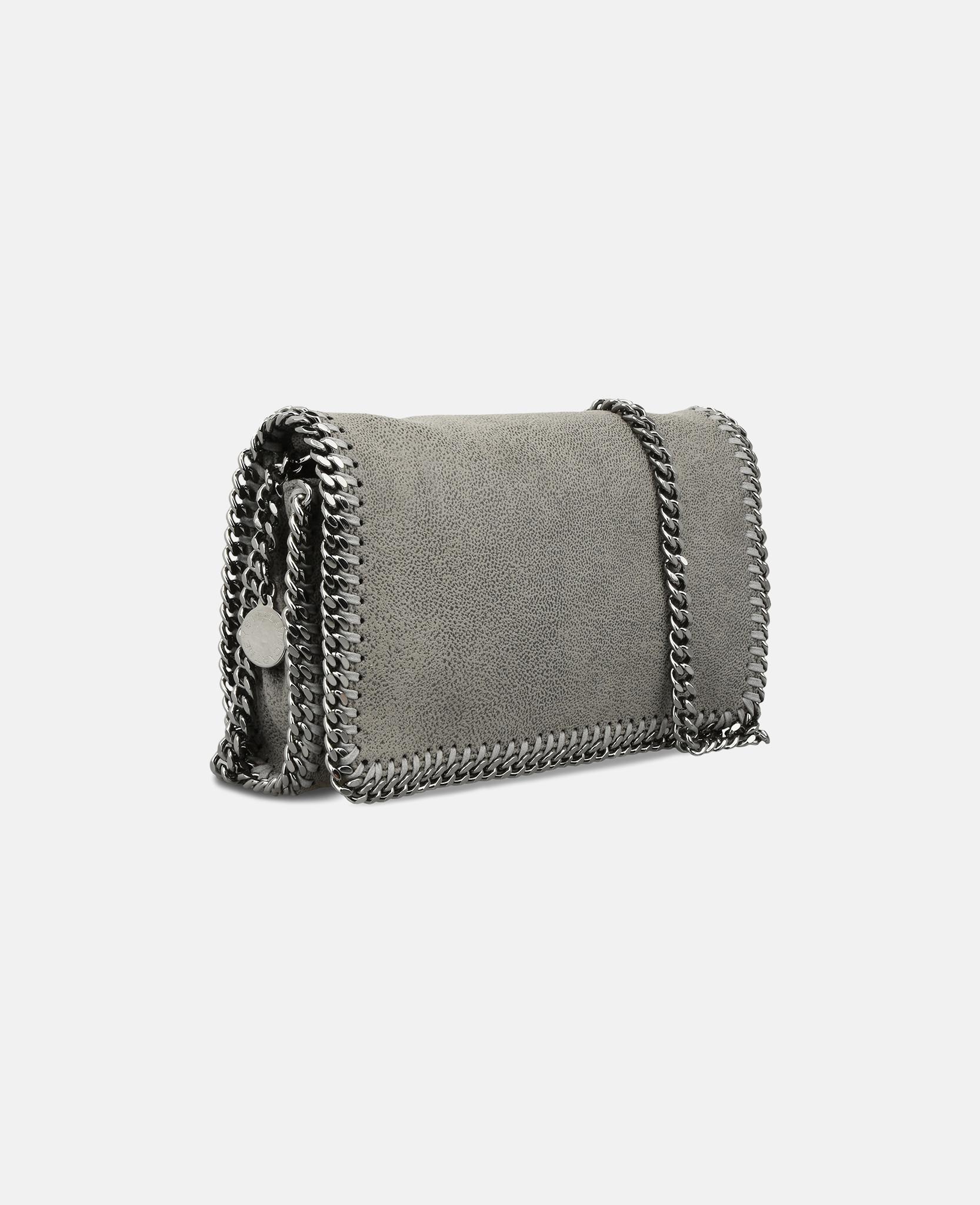 Lyst - Stella McCartney Light Grey Falabella Cross Body Bag in Gray 528a0050af