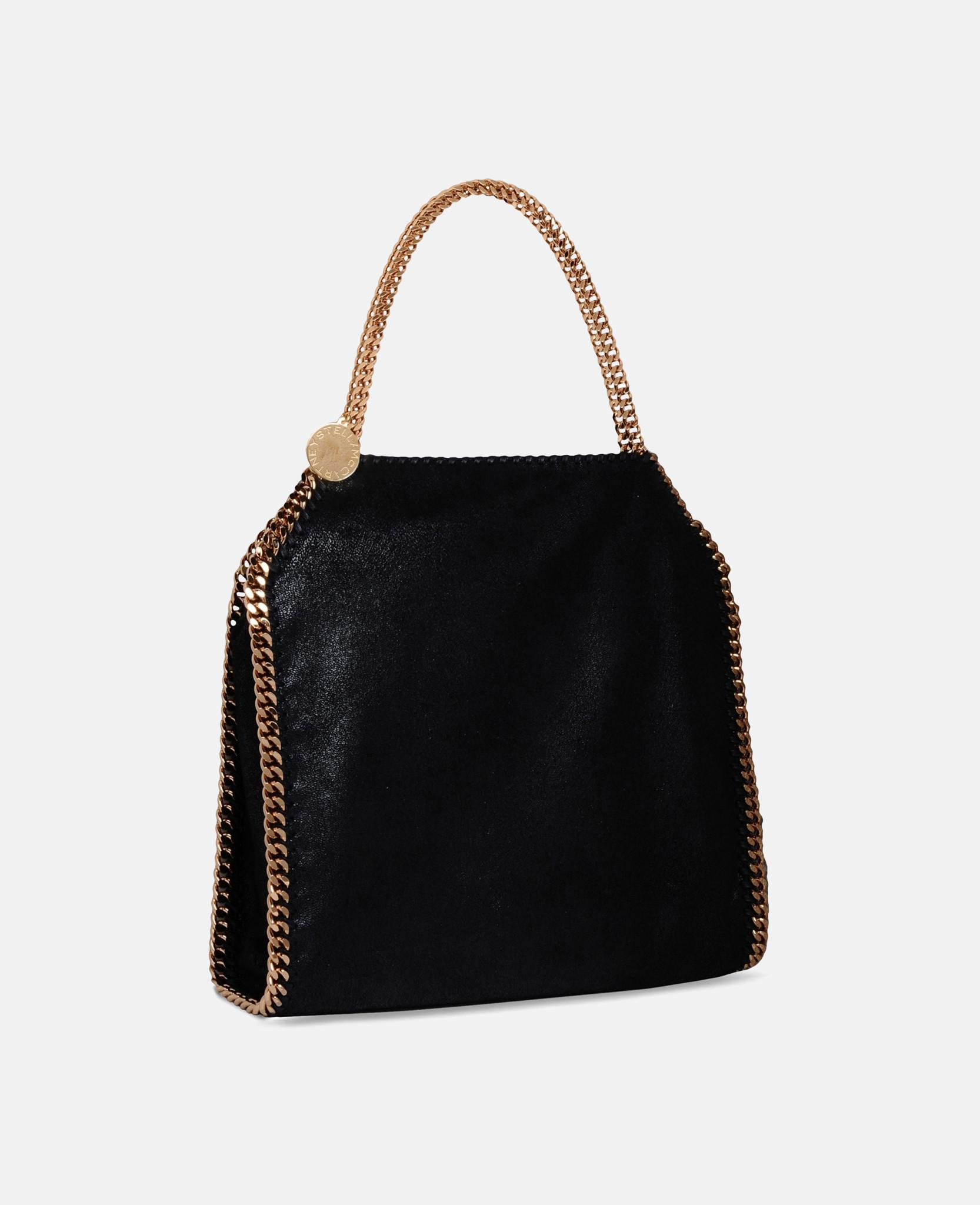 1ddd2b9581 Lyst - Stella McCartney Black Falabella Shaggy Deer Small Tote in ...