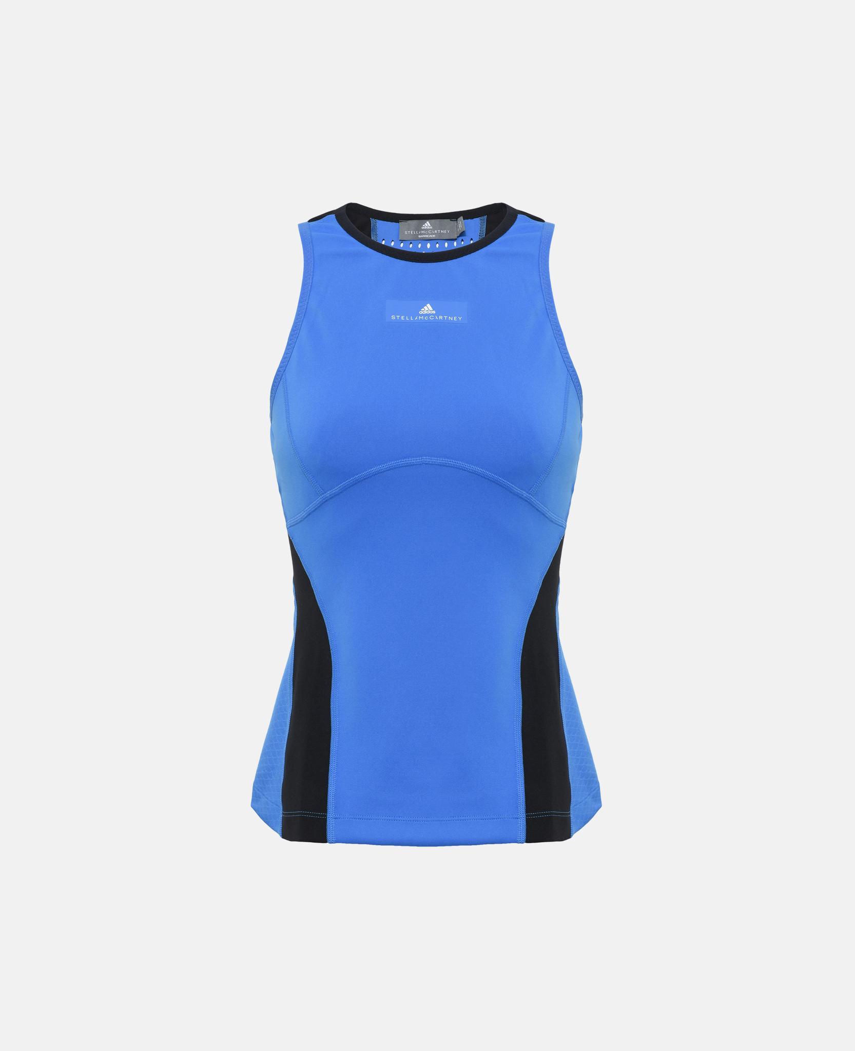 4f10e6966f Lyst - Adidas By Stella Mccartney Blue Barricade Tank in Blue