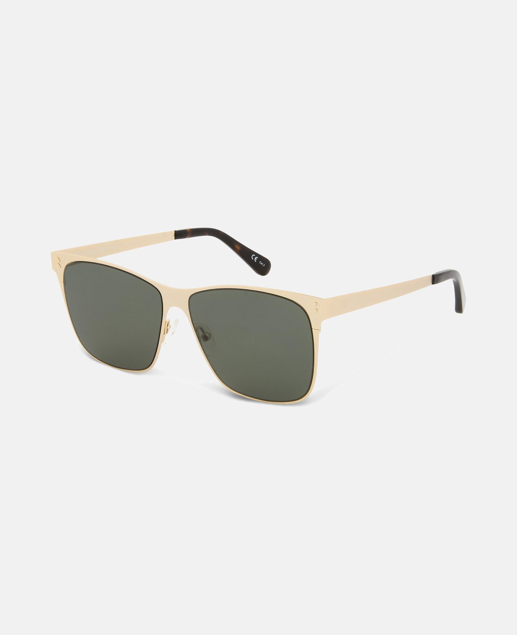 1a14dbe132 Stella McCartney. Women s Gold Square Metal Aviator Sunglasses
