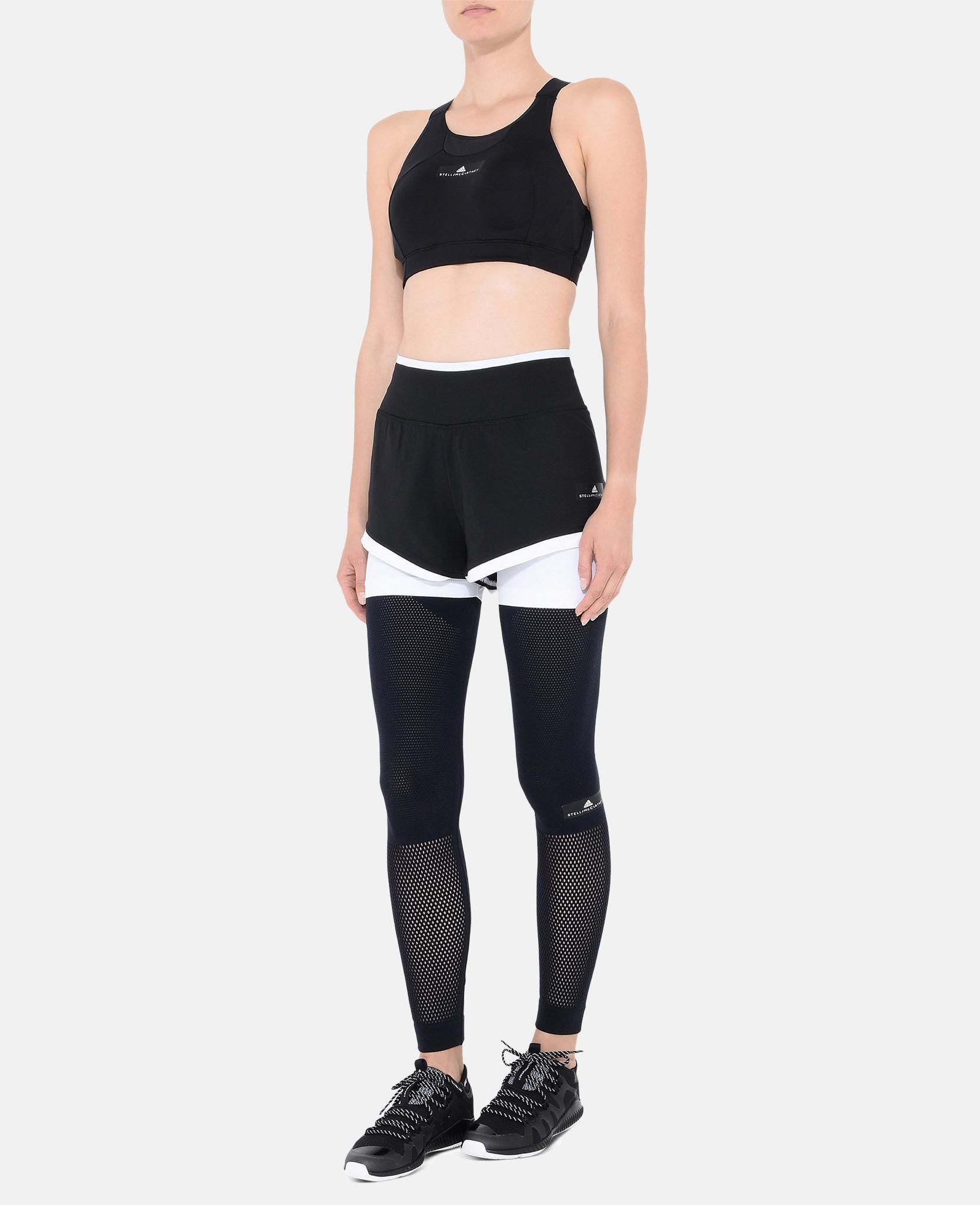 dc57df4f0cd52 Lyst - adidas By Stella McCartney Black Cmmttd Sports Bra in Black