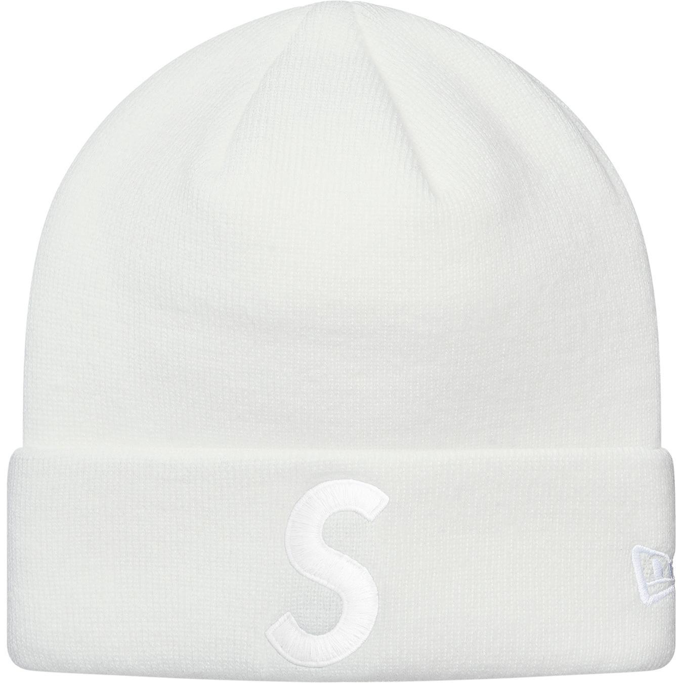 656df8e8962 Supreme - New Era S Logo Beanie White - Lyst. View fullscreen