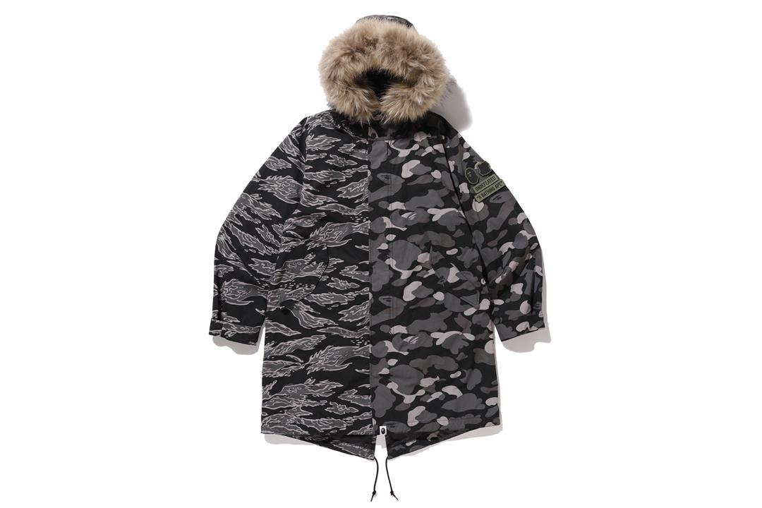 dfc748aac A Bathing Ape X Undefeated M-51 Hoodie Jacket Black in Black for Men ...