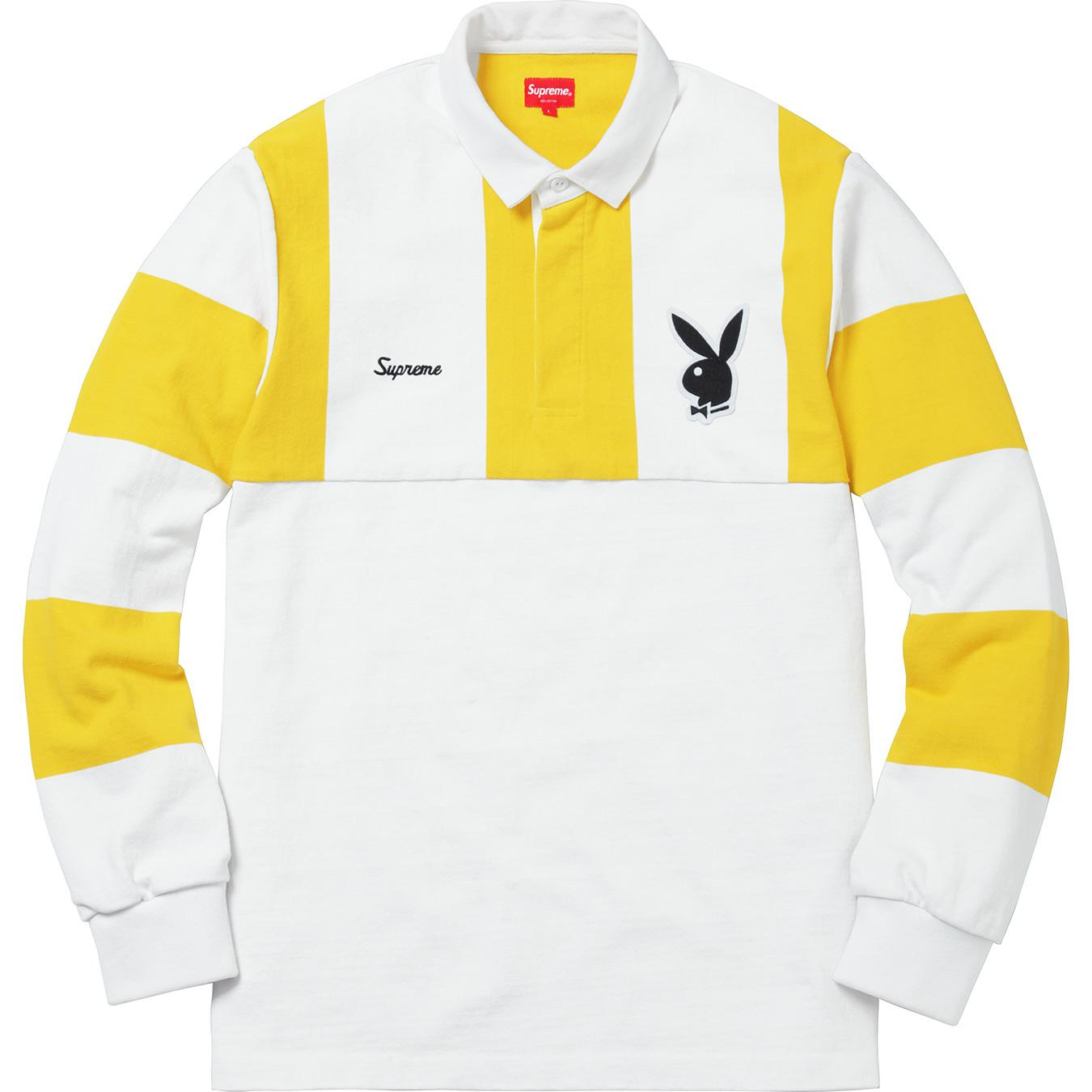 8299d604970 Supreme - Playboy Rugby White for Men - Lyst. View fullscreen