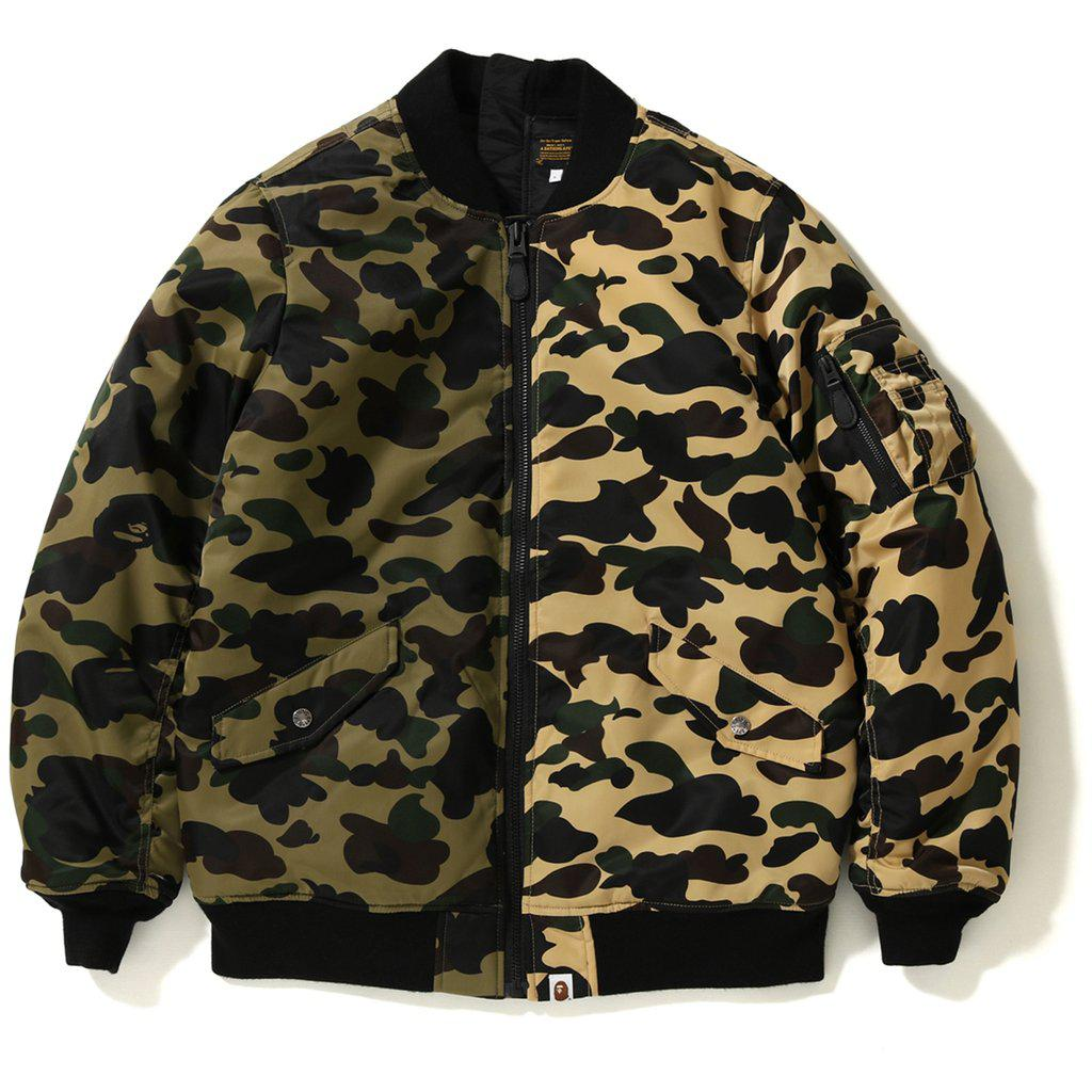 031b9ceb A Bathing Ape 1st Camo Half Ma-1 Yellow/green in Green for Men - Lyst