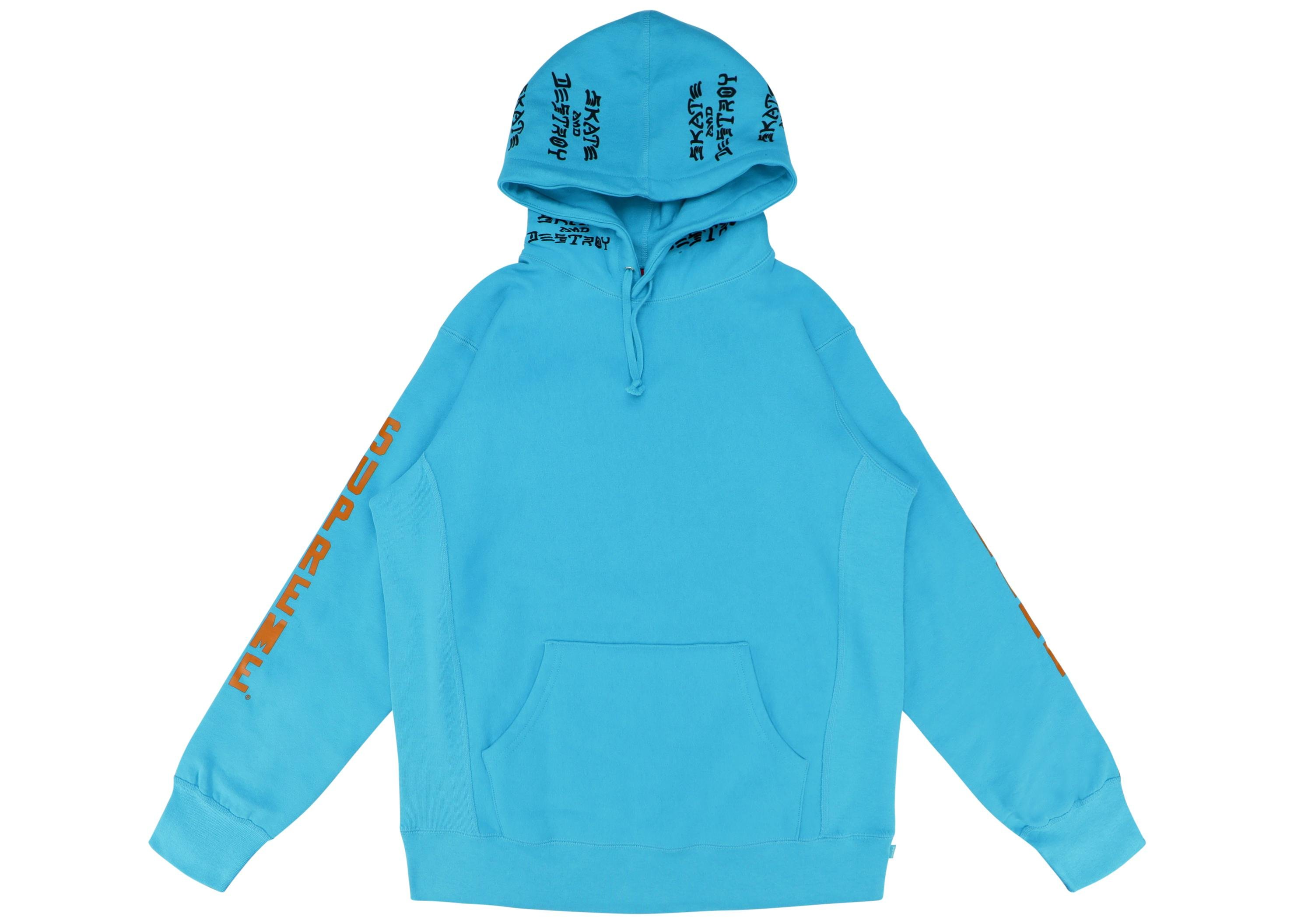 66ab7093322 Lyst - Supreme Thrasher Boyfriend Hooded Sweatshirt Light Aqua in ...