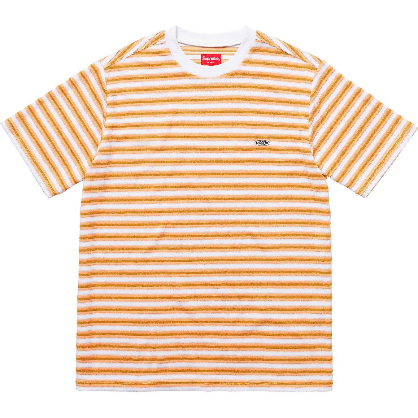 49b9da3c5278 Supreme Multi Stripe Terry Tee White in White for Men - Lyst