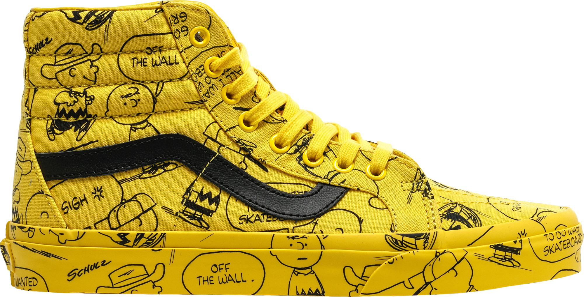 393ae92a82 Lyst - Vans Sk8-hi Peanuts Charlie Brown in Yellow for Men