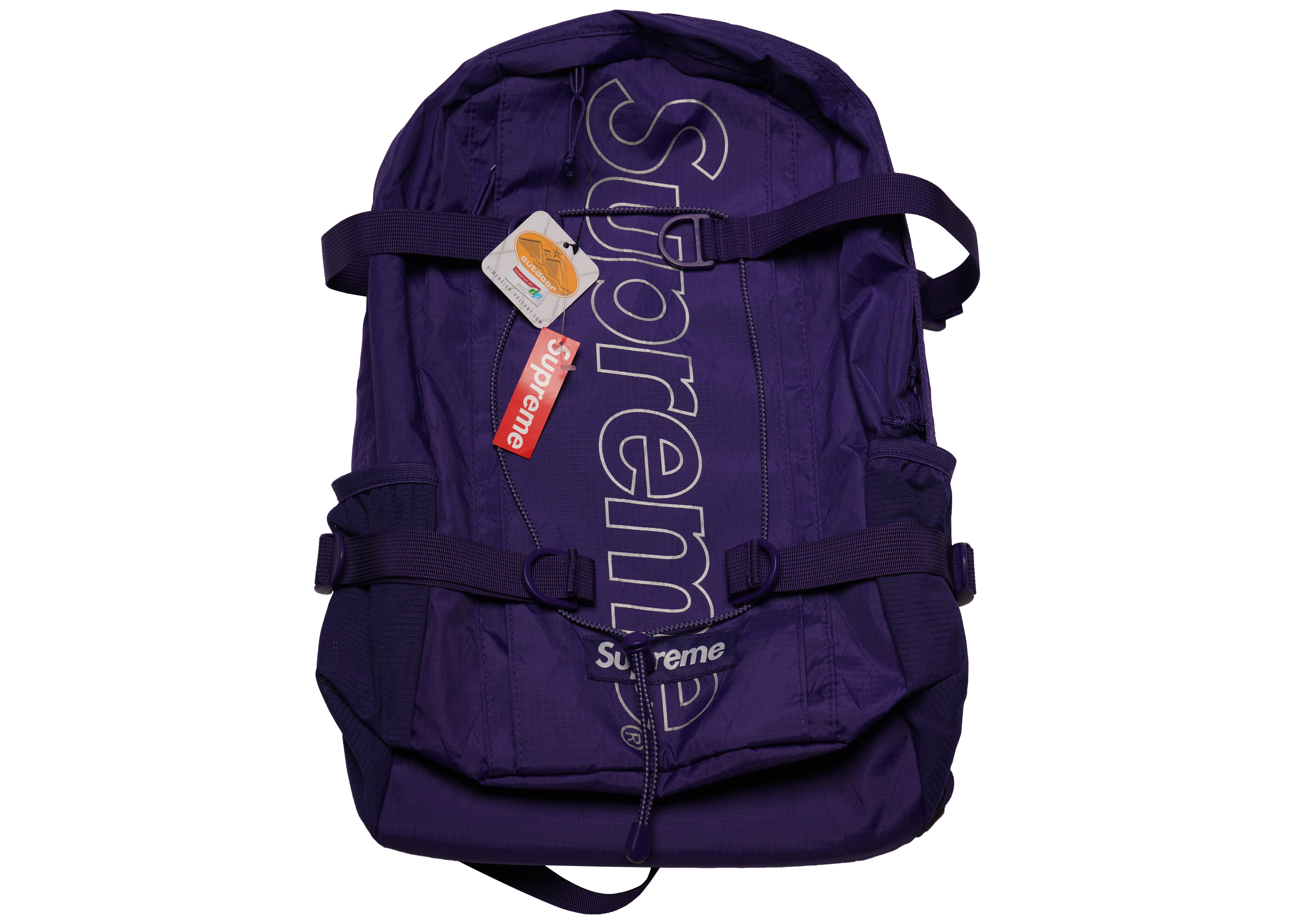 83f86b8d5903 Supreme - Backpack (fw18) Purple for Men - Lyst. View fullscreen