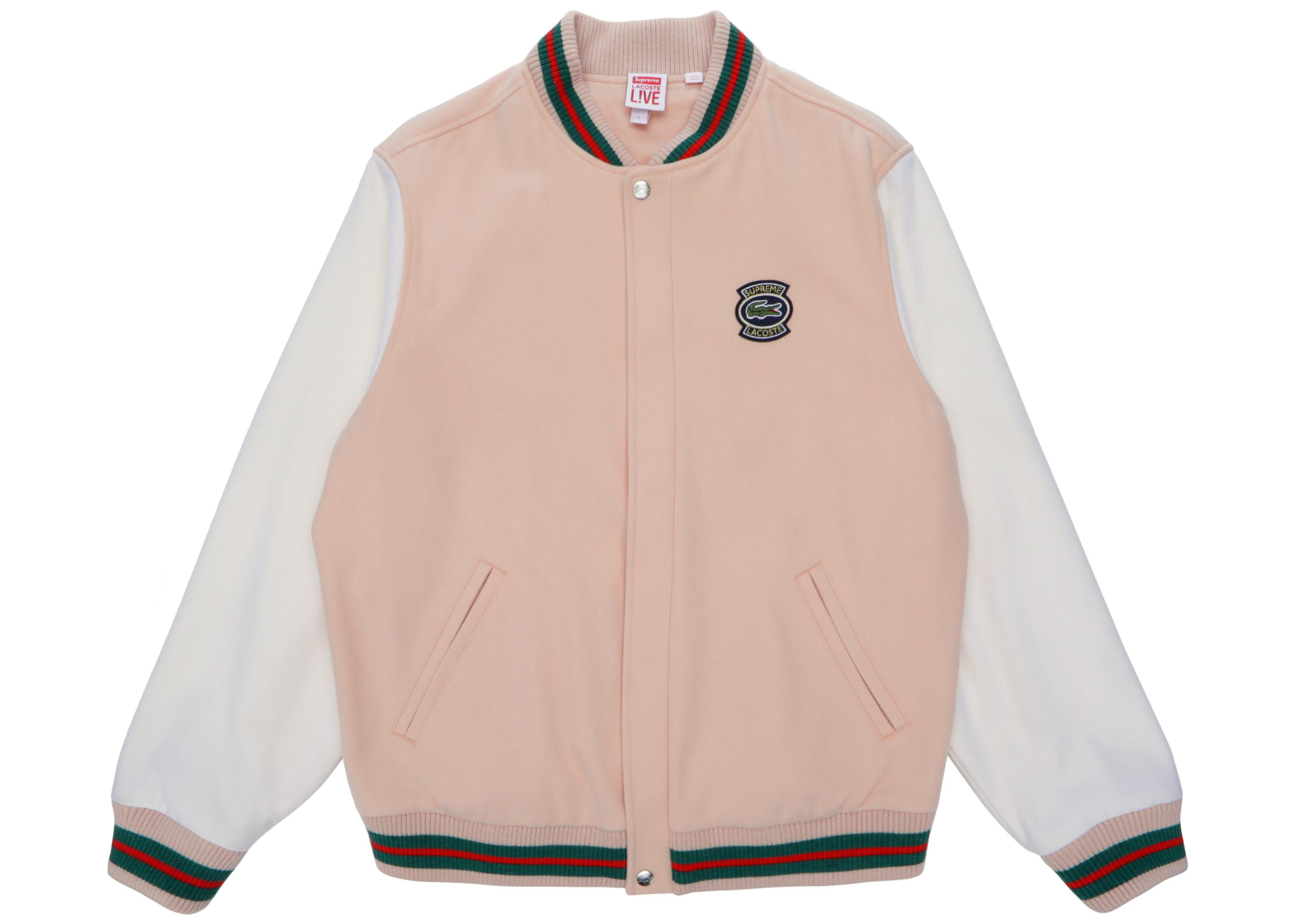 18e7a75826623 Supreme - Multicolor Lacoste Wool Varsity Jacket for Men - Lyst. View  fullscreen