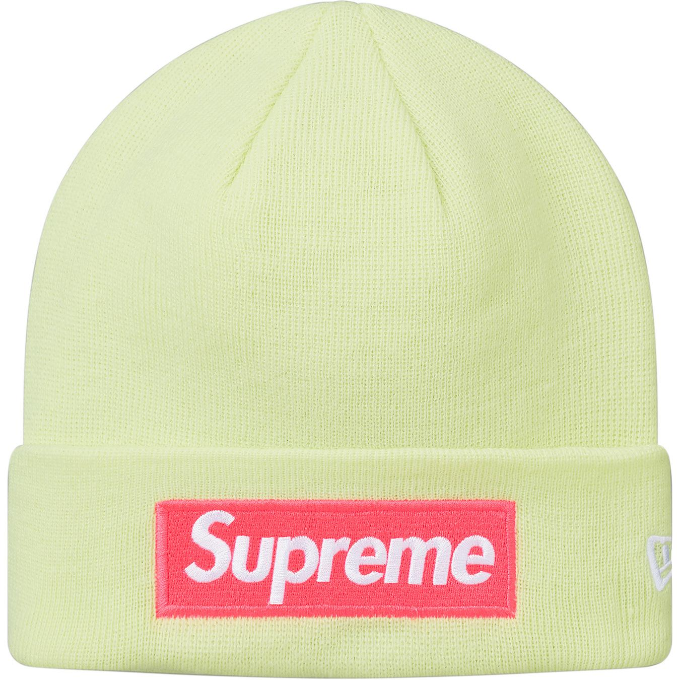 f22cf57c5c8c1 Lyst - Supreme New Era Box Logo Beanie (fw17) Pale Lime in Green