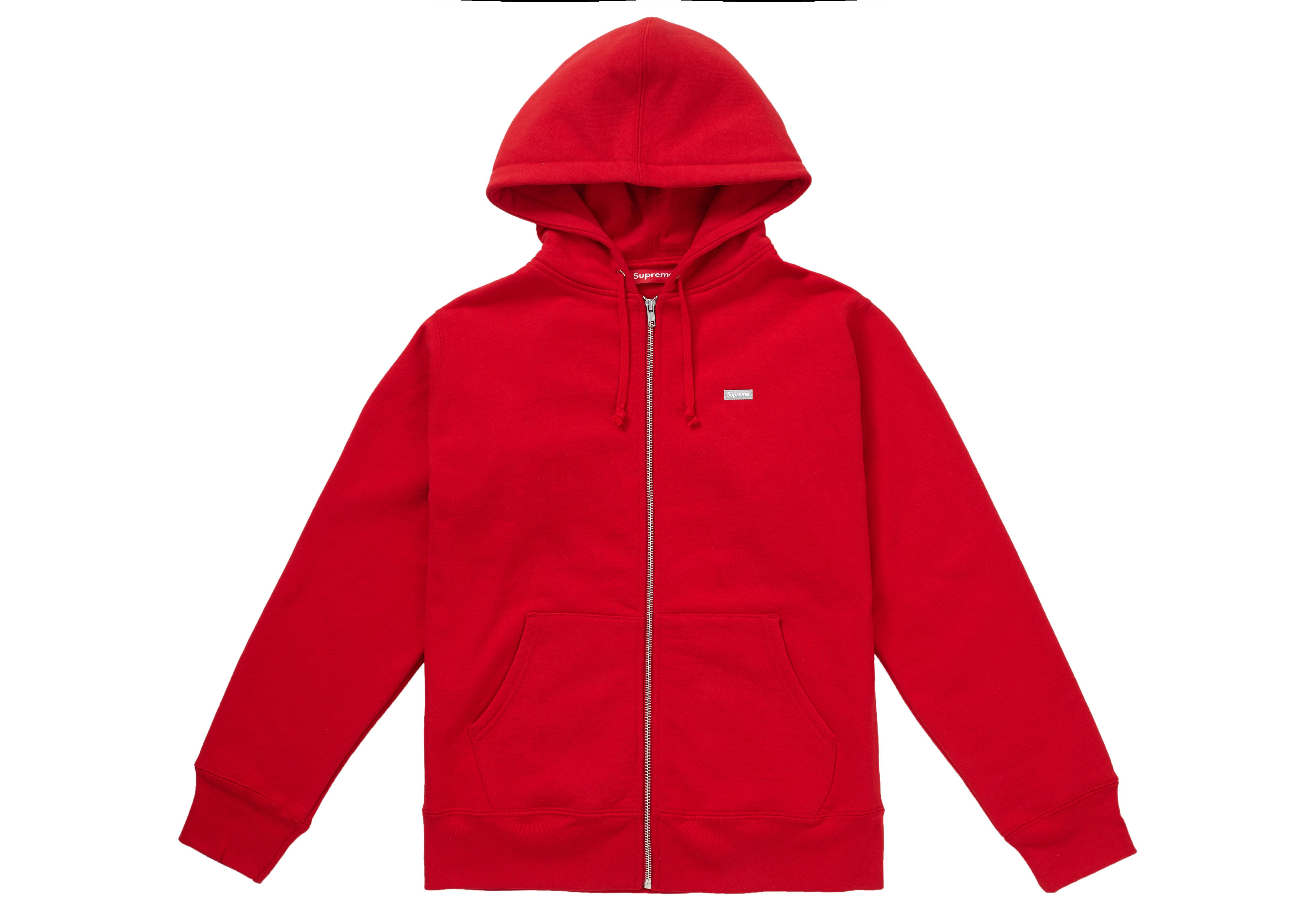559ad9269559 Supreme - Reflective Small Box Zip Up Sweatshirt Red for Men - Lyst. View  fullscreen