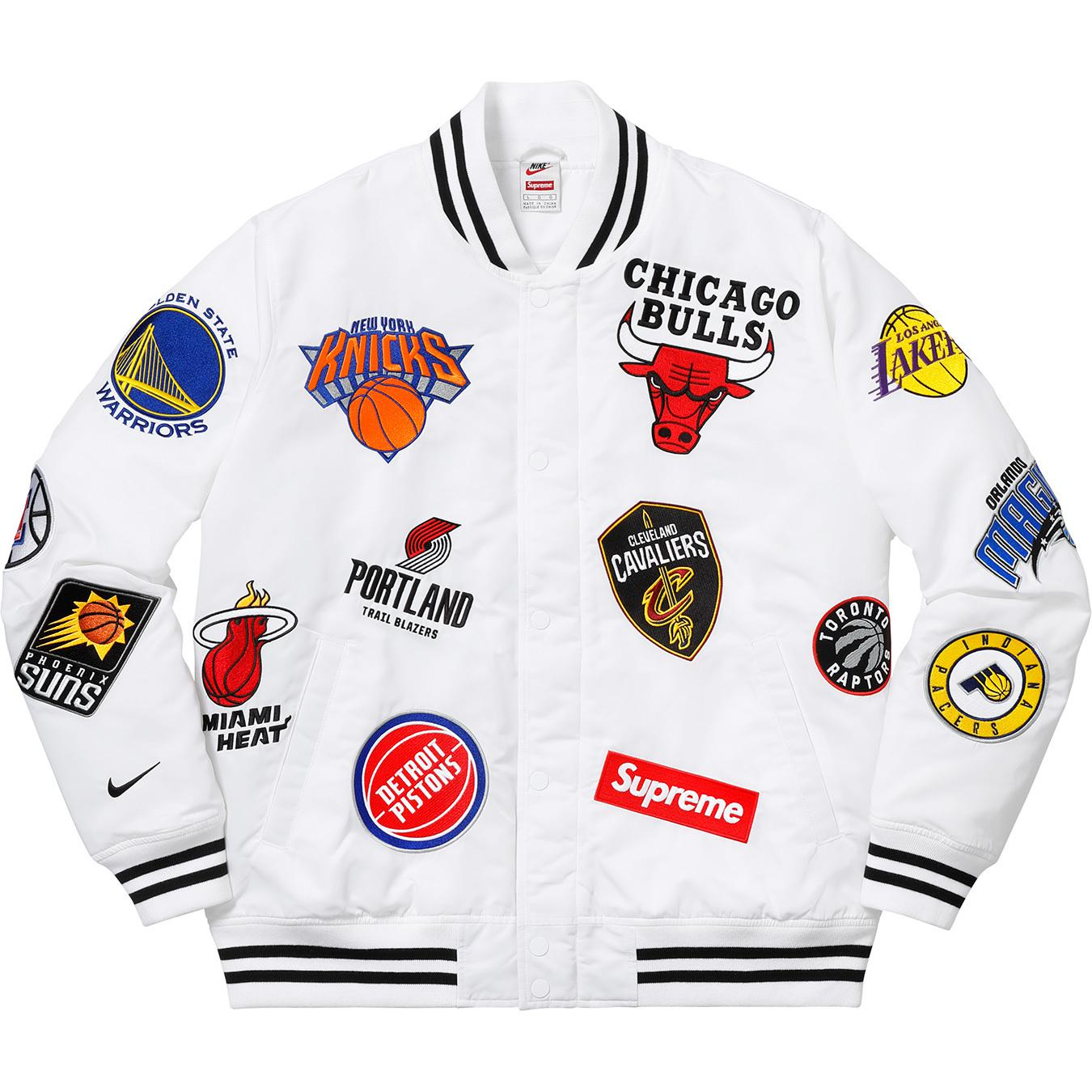 Supreme - Nike nba Teams Warm-up Jacket White for Men - Lyst. View  fullscreen caccc3d2a