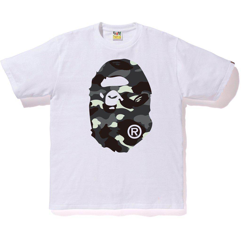 512e0f91 Lyst - A Bathing Ape City Camo Big Ape Head Tee White/black in White ...