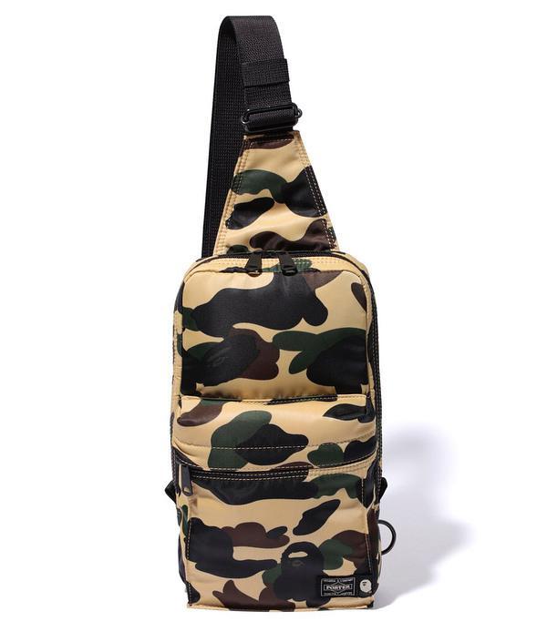 62750a11b1 Lyst - A Bathing Ape X Porter 1st Camo One Shoulder Bag Yellow in ...