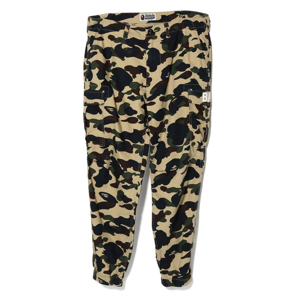 3886923cdd7d Lyst - A Bathing Ape 1st Camo 6-pocket Jogger Pants Yellow in Yellow ...
