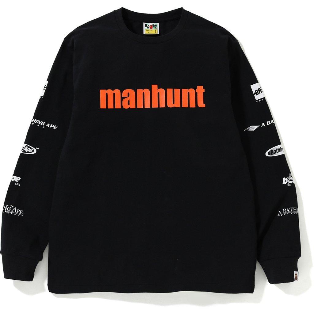 348ea775 Lyst - A Bathing Ape Manhunt Ls Tee Black in Black for Men