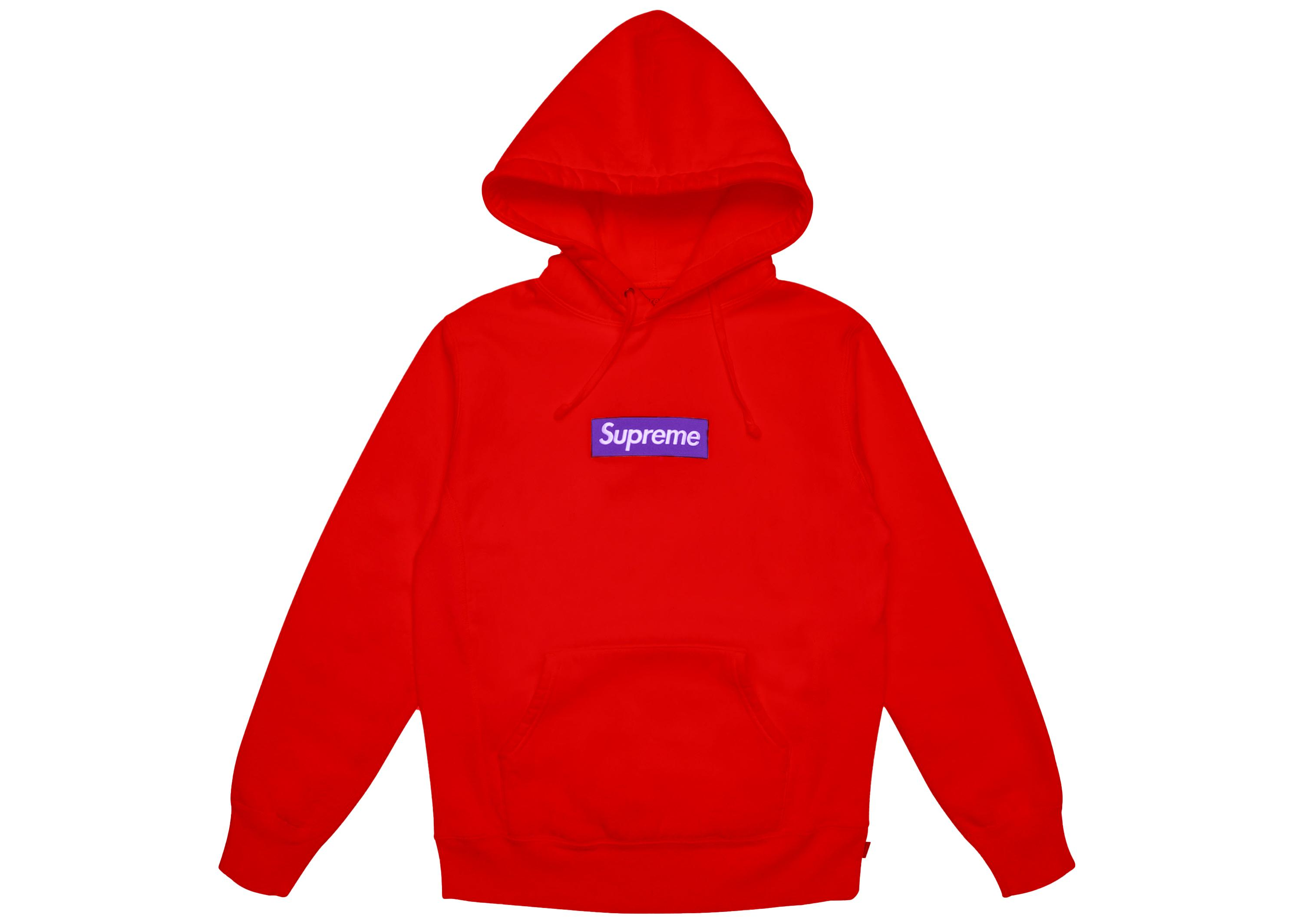 53abf575936d Supreme - Box Logo Hooded Sweatshirt (fw17) Red for Men - Lyst. View  fullscreen