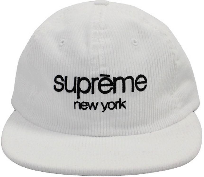 0d206e53ee7 Lyst - Supreme Corduroy Classic Logo Camp Cap White in White