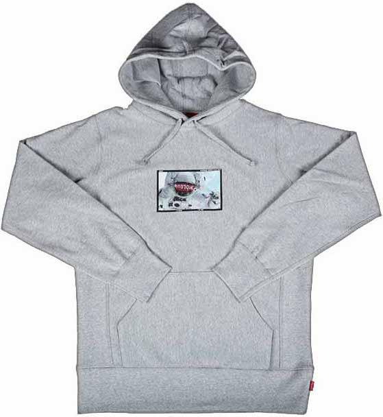 46ce719b1f0d Lyst - Supreme Astronaut Hooded Pullover Grey in Gray for Men