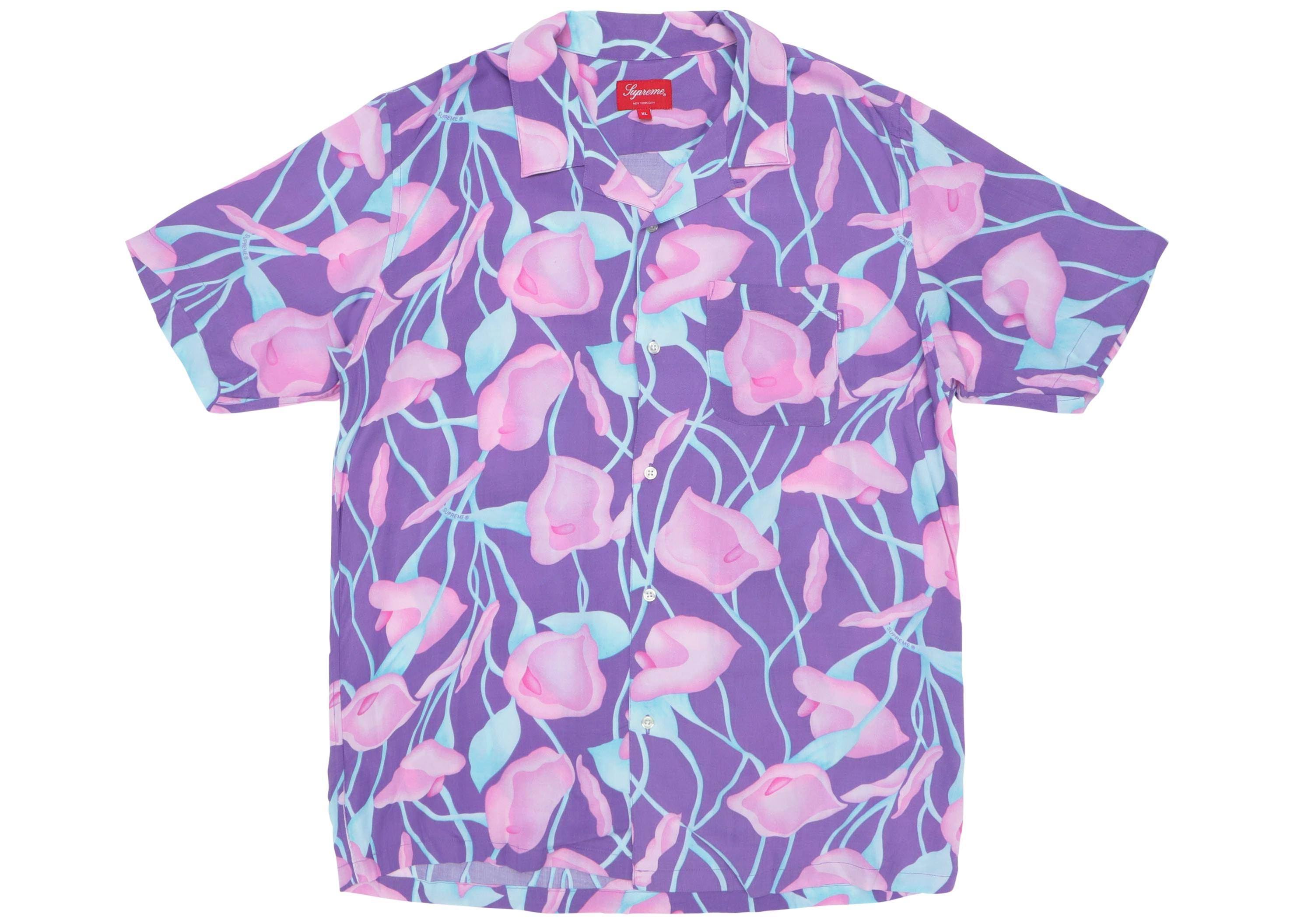 363087920188 Lyst - Supreme Lily Rayon Shirt Purple in Purple for Men