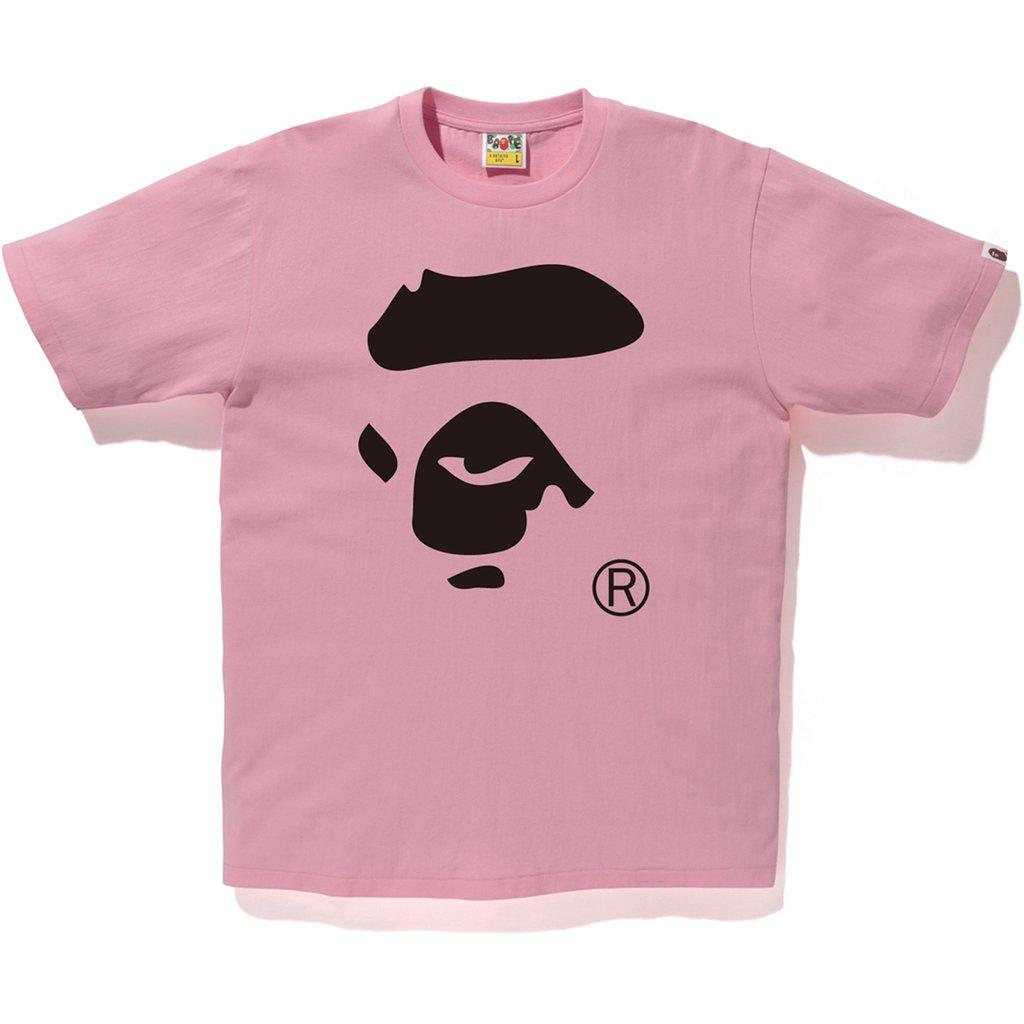 7f318153 Lyst - A Bathing Ape Bicolor Ape Face Tee Pink/black in Pink for Men
