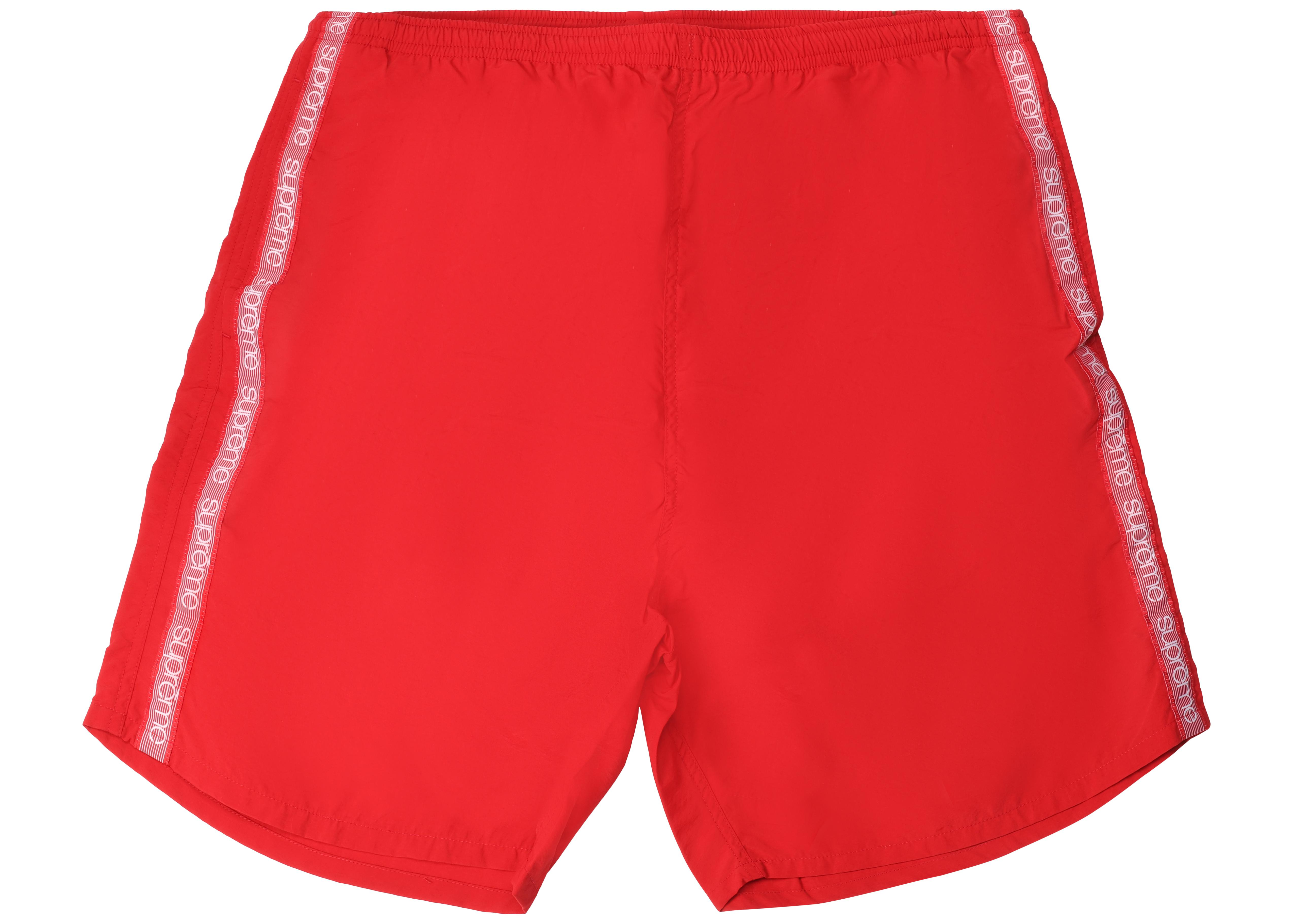 b451e6f781d5 Lyst - Supreme Tonal Taping Water Short Red in Red for Men