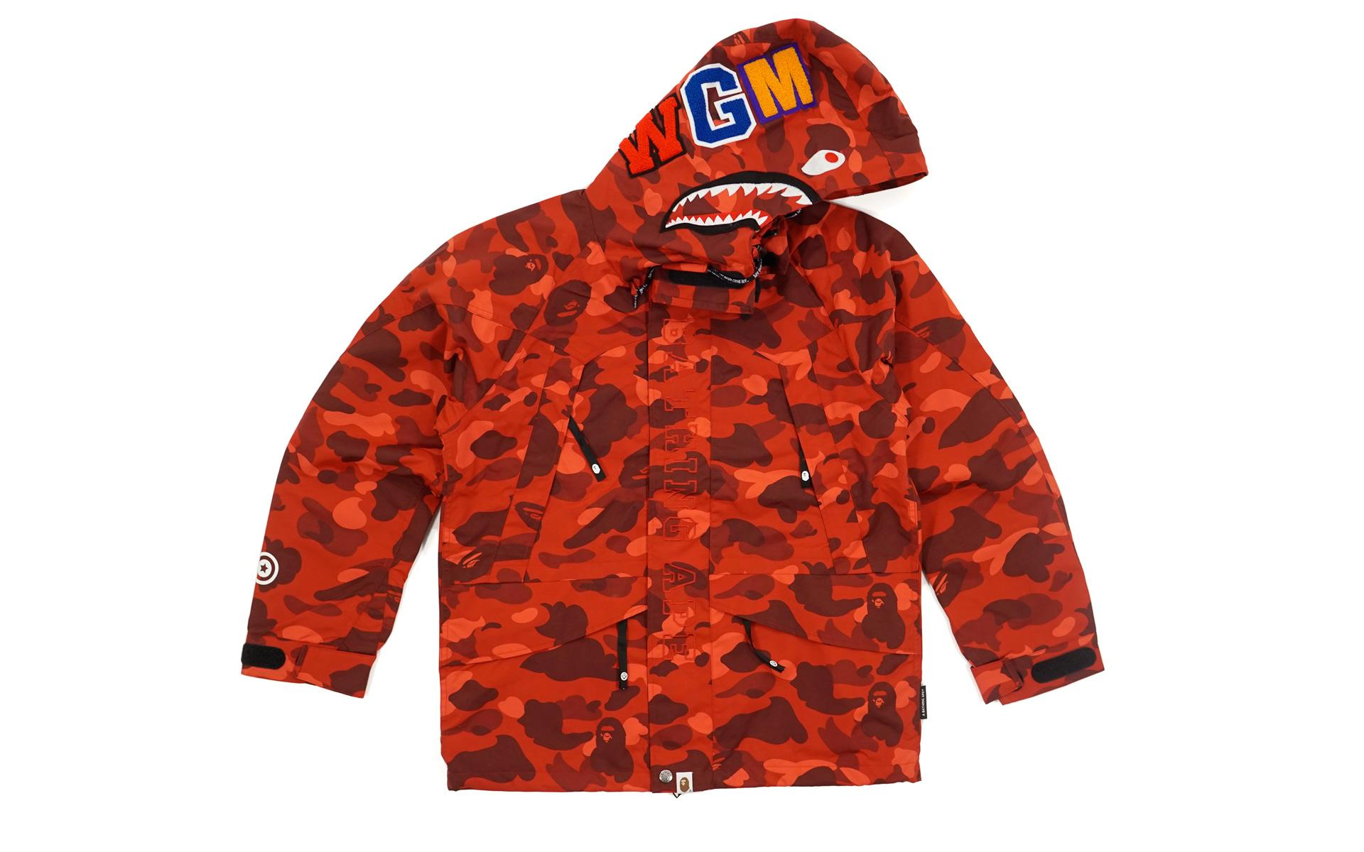 c900e0917428 A Bathing Ape - Color Camo Shark Snowboard Jacket Red for Men - Lyst. View  fullscreen