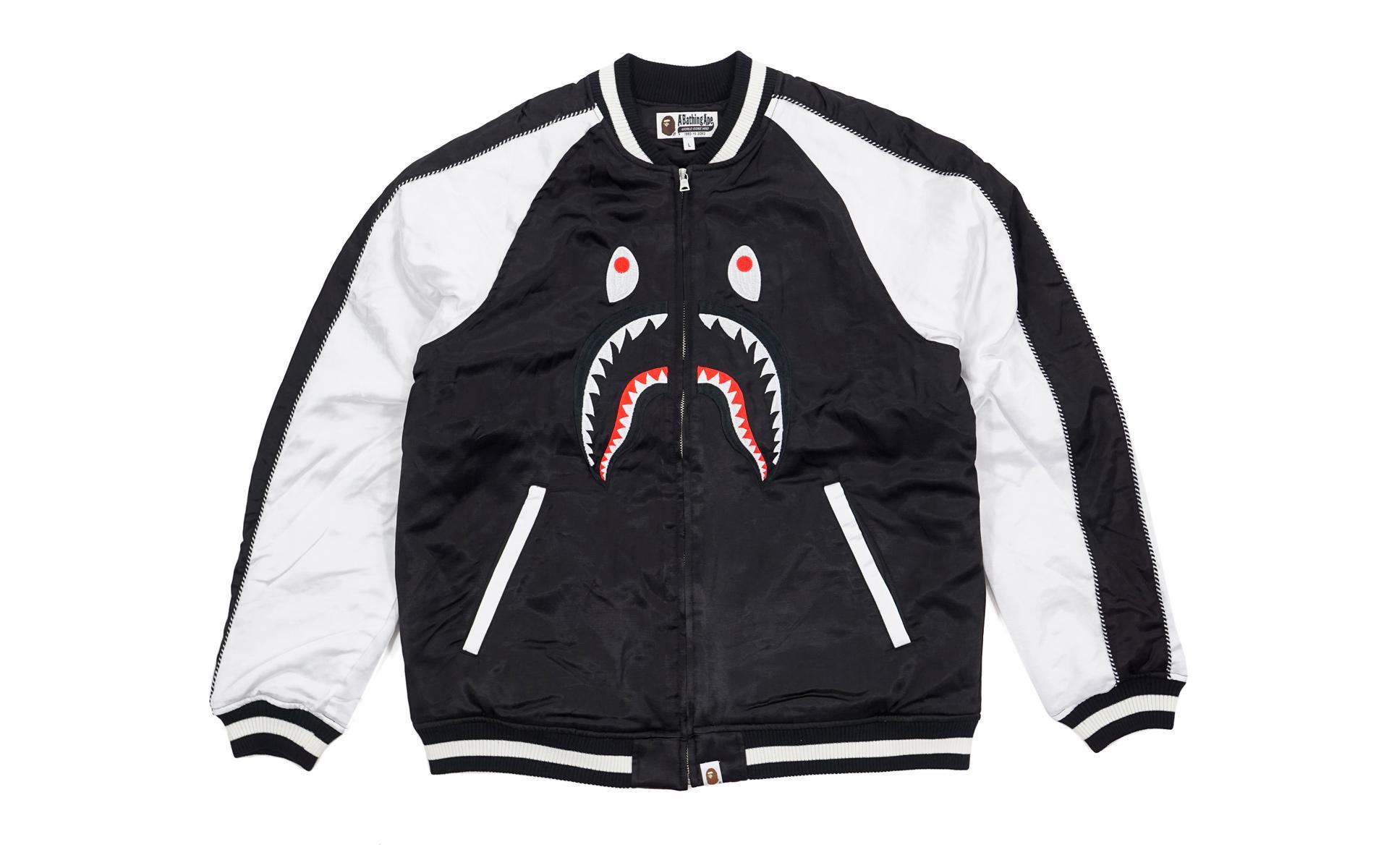 08fc585a8 Lyst - A Bathing Ape Shark Souvenir Suka Jacket Black in Black for Men