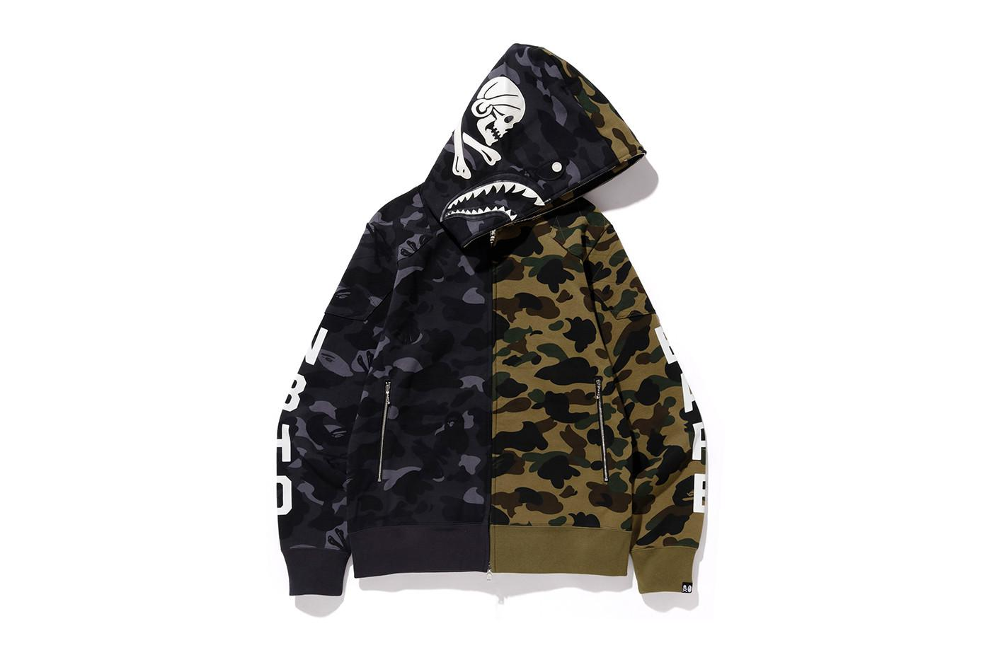 260571f72f Lyst - A Bathing Ape X Neighborhood Split Camo Shark Full Zip Hoodie ...