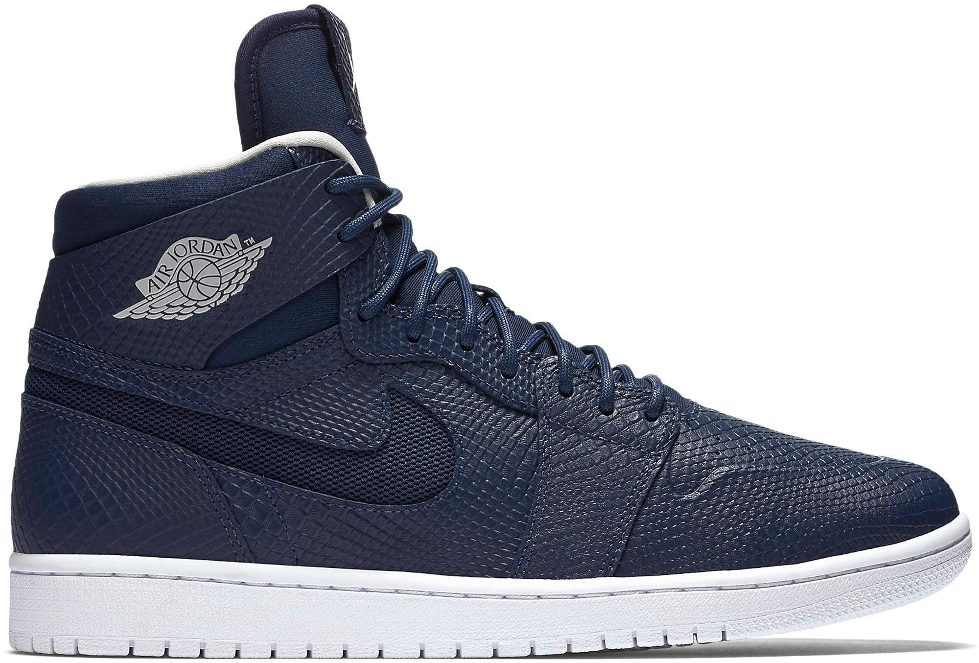 finest selection 37941 b3a05 Nike - Blue 1 Retro Nouveau Navy Snake for Men - Lyst. View fullscreen