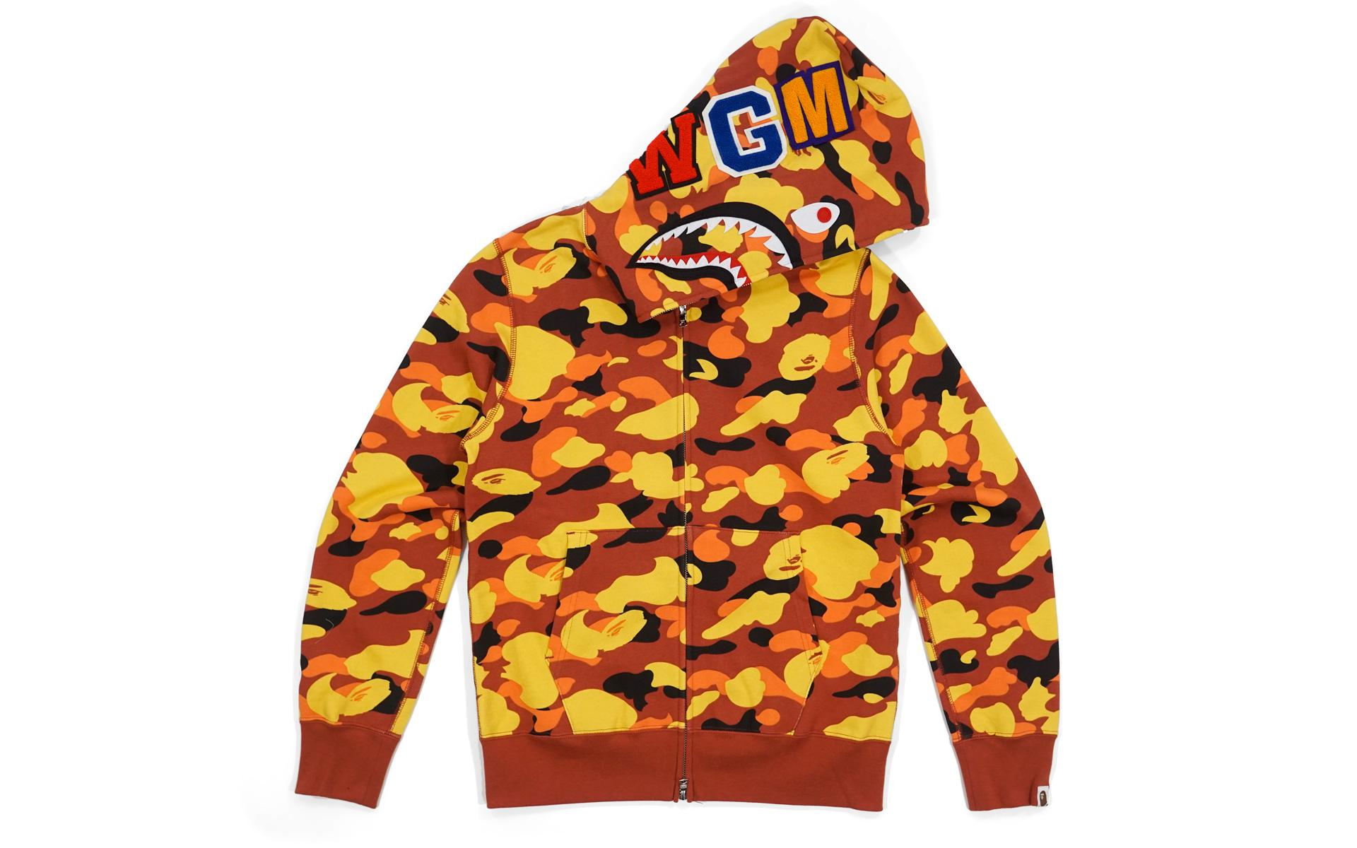 fa991aa8047b Lyst - A Bathing Ape Ultimate 1st Camo Wgm Wappen Shark Orange in ...