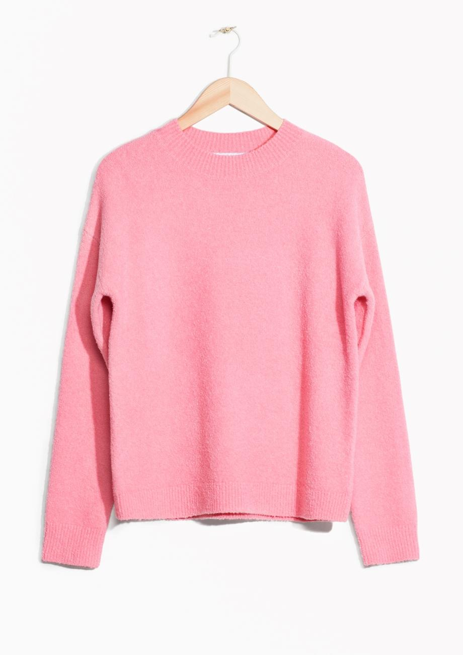 Wool Sweater Grey: & Other Stories Wool Sweater In Pink