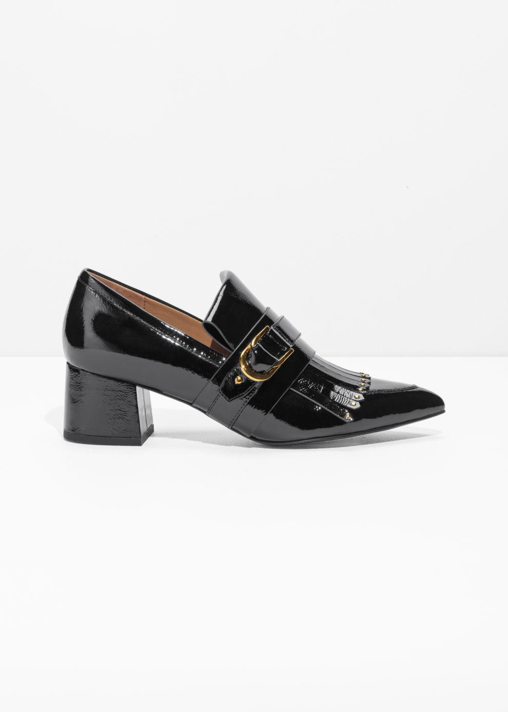 f3e790c45f7 Lyst -   Other Stories Patent Leather Loafer Pumps in Black