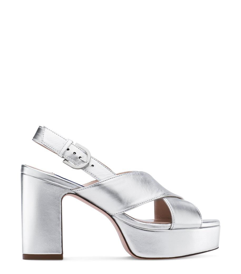 d78bf8364762 Lyst - Stuart Weitzman The Jerry Sandal in Metallic