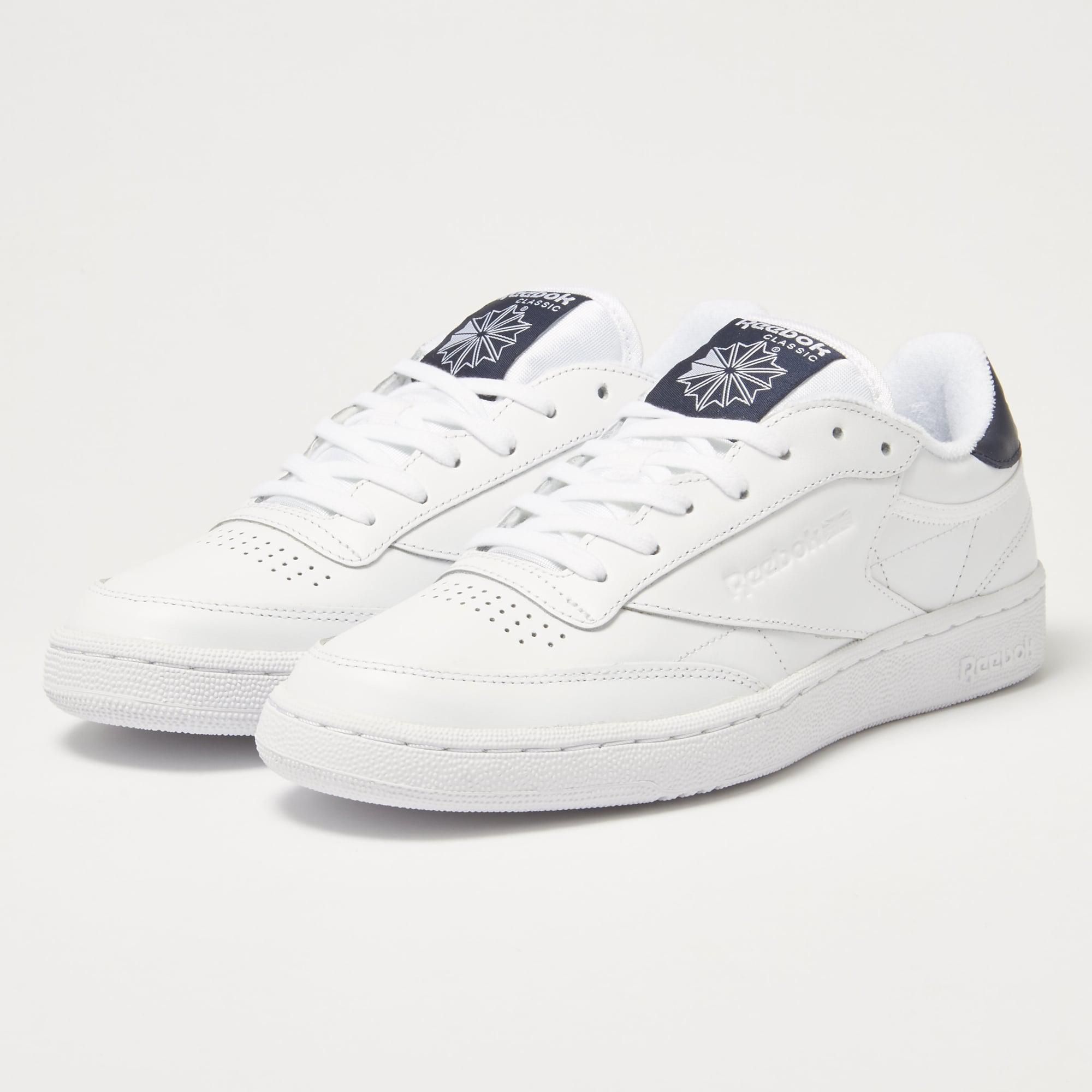 lyst reebok club c85 el white sneakers in white for men. Black Bedroom Furniture Sets. Home Design Ideas