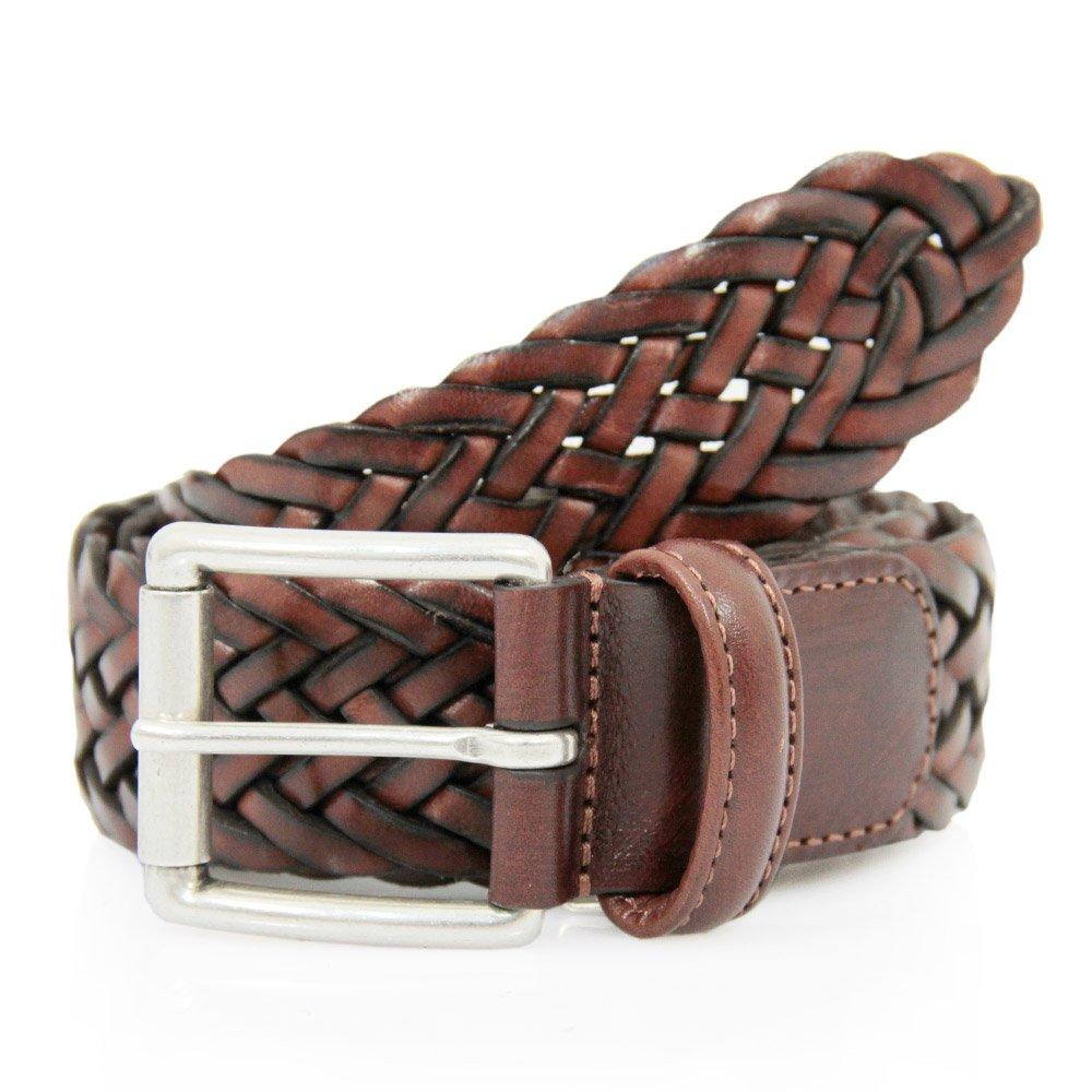 andersons s brown braided leather belt in brown