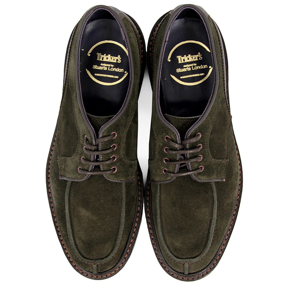 tricker s trickers x stuarts two tone olive shoe in