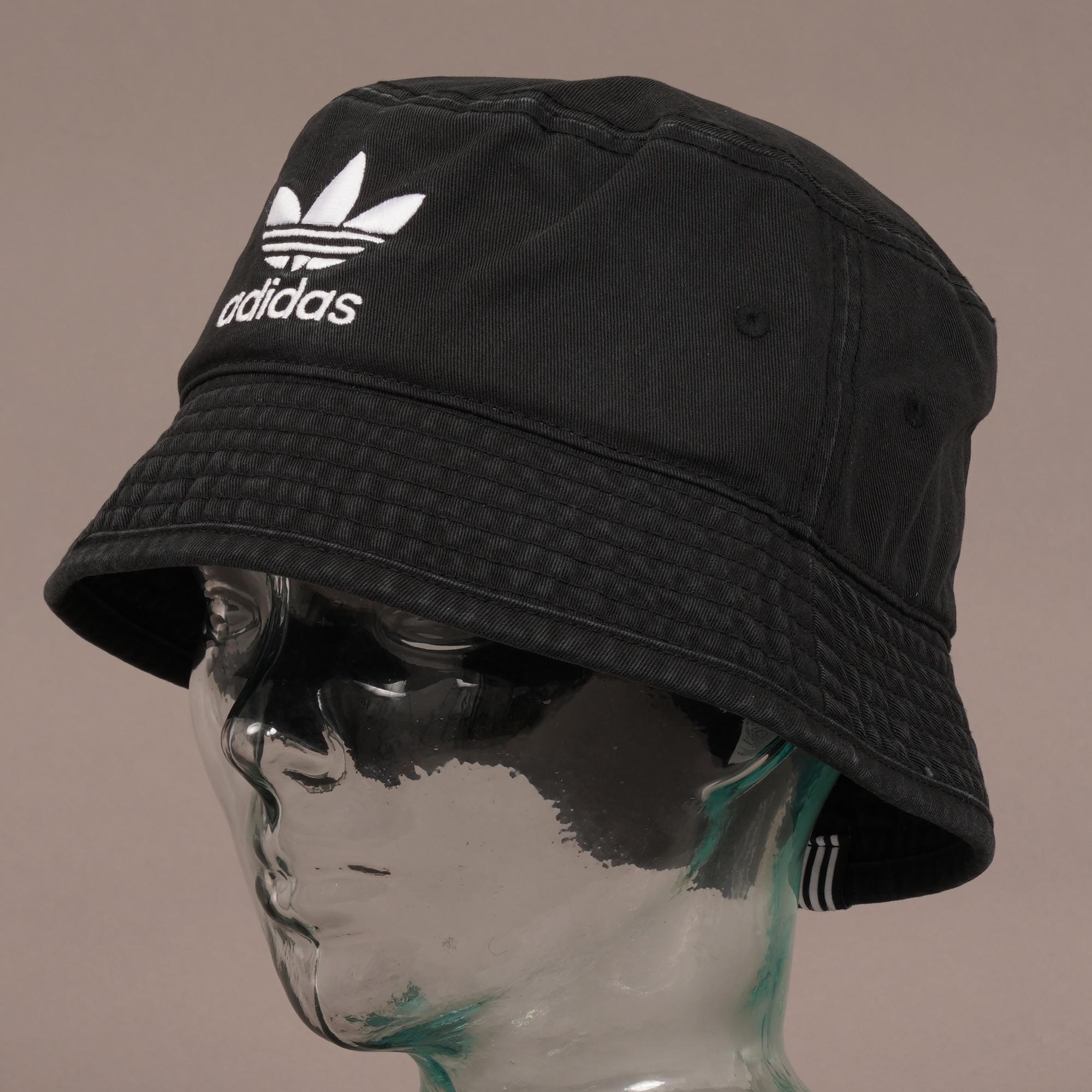 the latest 804b2 46bc1 Adidas Originals - Trefoil Bucket Hat - Black for Men - Lyst. View  fullscreen