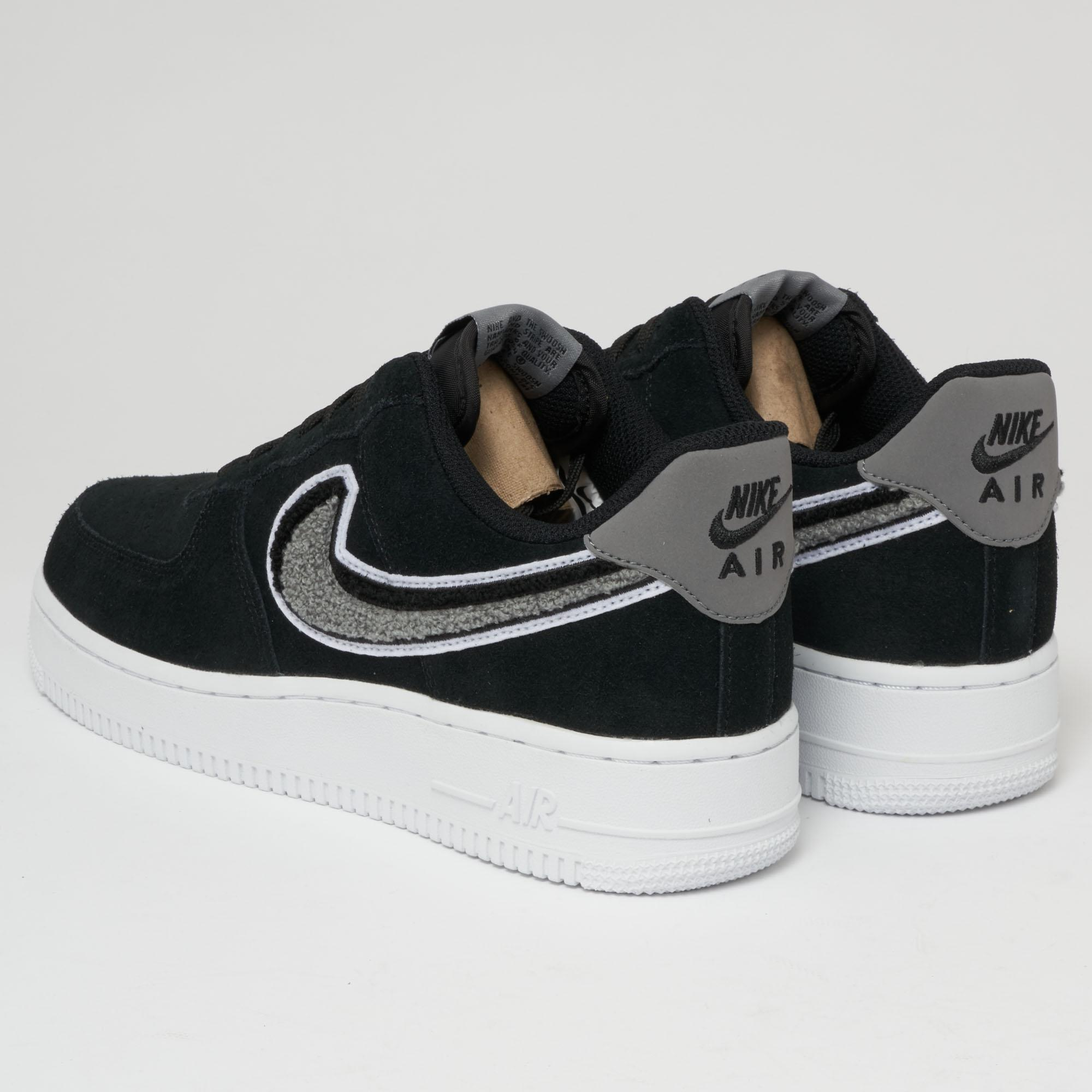 separation shoes 9489a 46e35 Nike Air Force 1  07 Lv8 - Black, White   Cool Grey in Black for Men ...