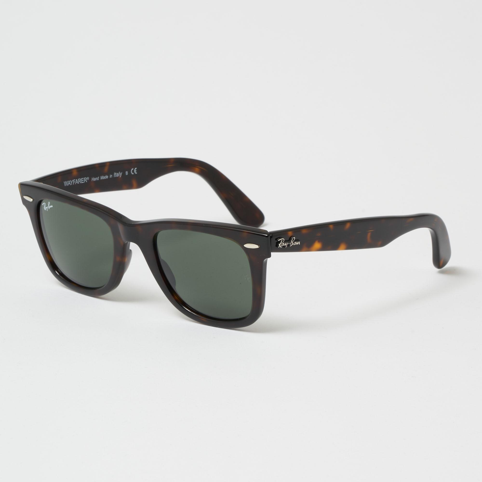 2cc143baaca ... netherlands ray ban. mens tortoise original wayfarer classic sunglasses  green classic g 15 lenses babb0