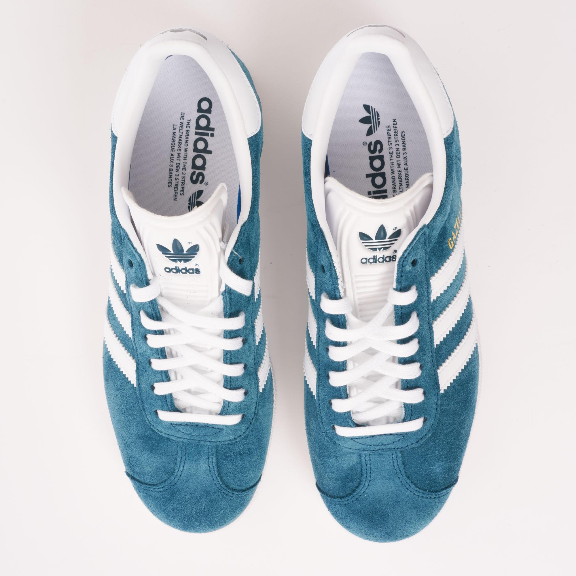 reputable site 0230d ce1e7 Lyst - adidas Originals Gazelle - Petrol Night  Ftw White in