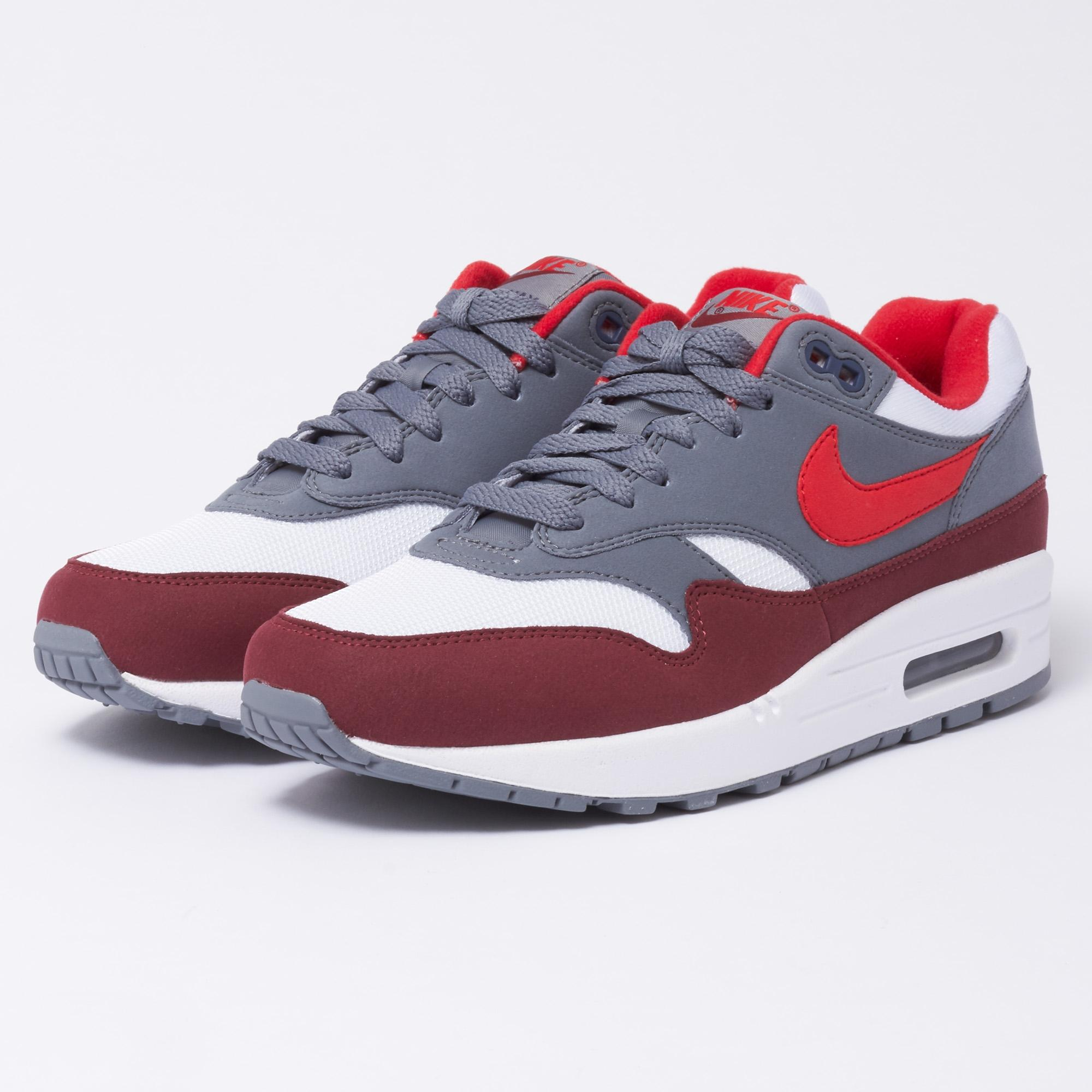 590778c3367 Lyst - Nike Air Max 1 - White   University Red in White for Men ...