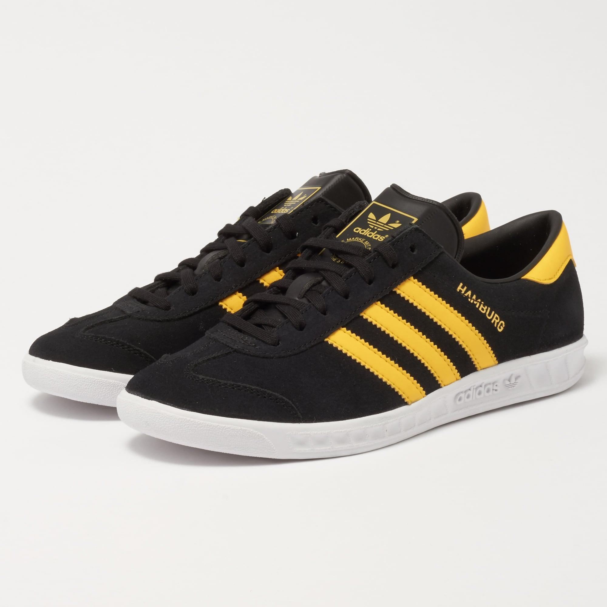 Lyst - adidas Originals Hamburg - Black   Yellow in Black for Men ed12829ff490e