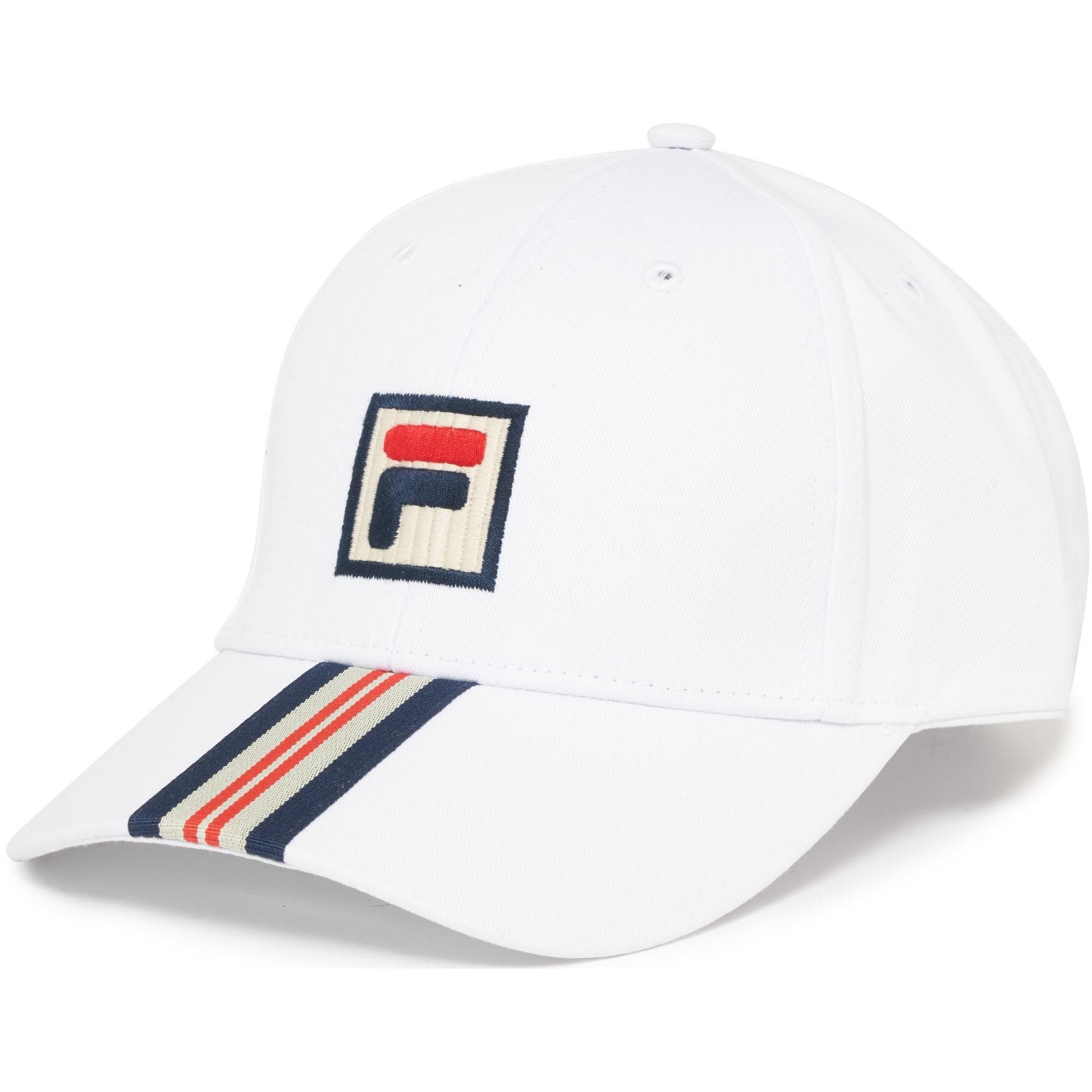 47aa540a Fila Vintage White Walker Baseball Cap in White for Men - Lyst