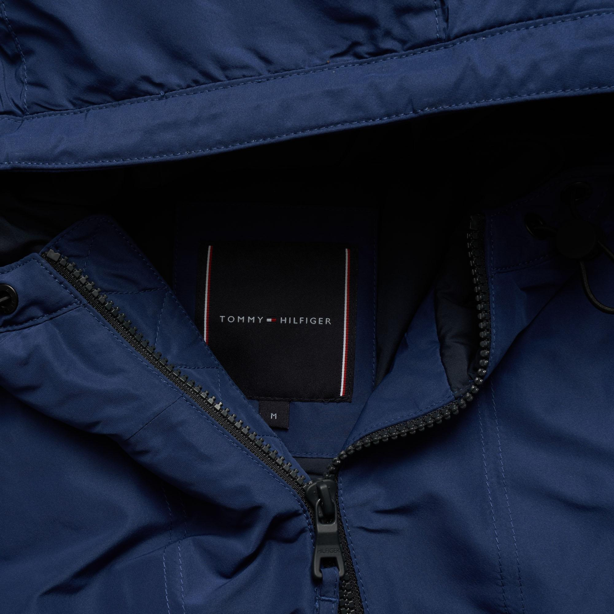 Tommy Hilfiger Padded Logo Anorak - Medieval Blue in Blue for Men - Lyst e91fc7469