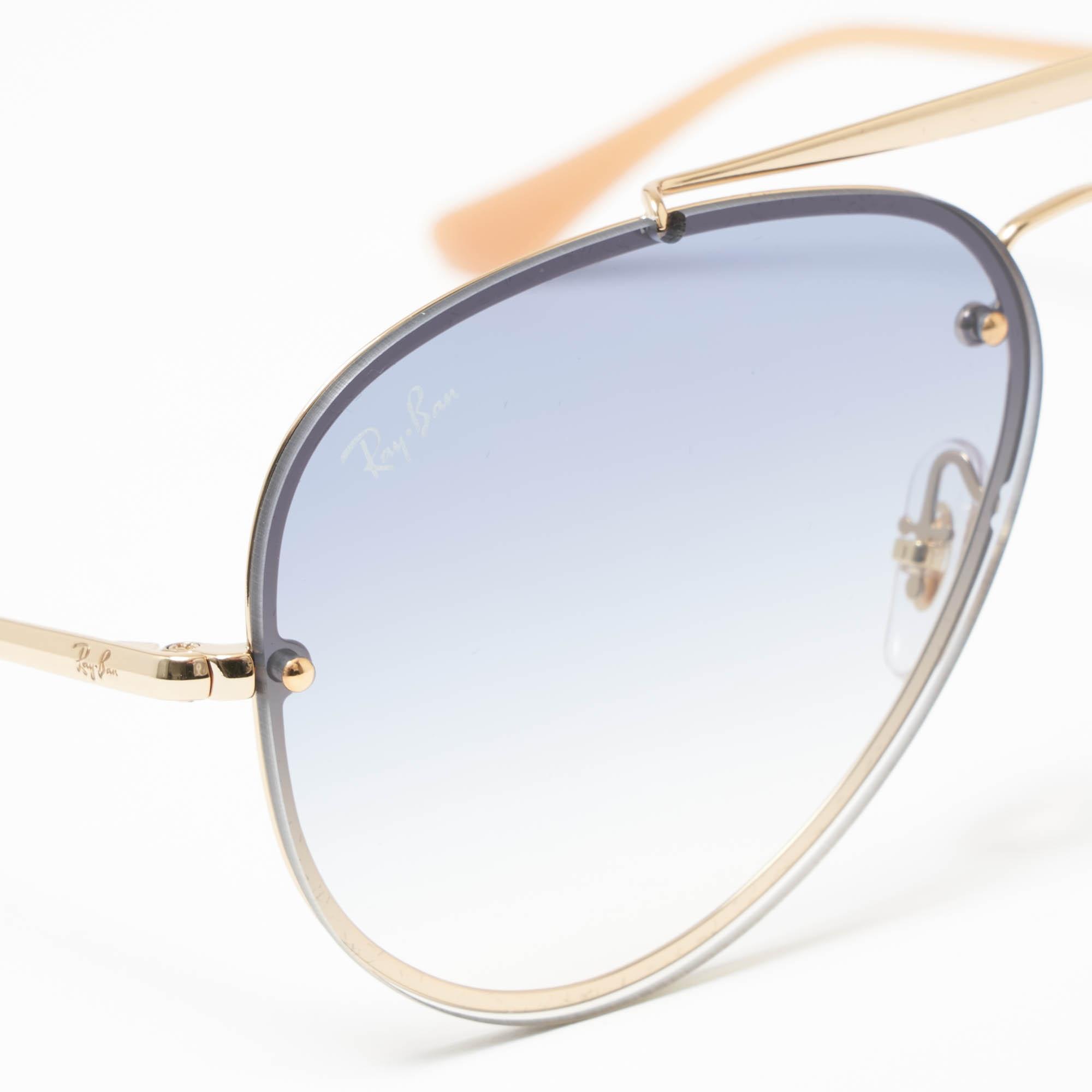 9baa7a857f Ray-Ban - Metallic Gold Blaze Aviator Sunglasses - Light Blue Gradient  Lenses for Men. View fullscreen