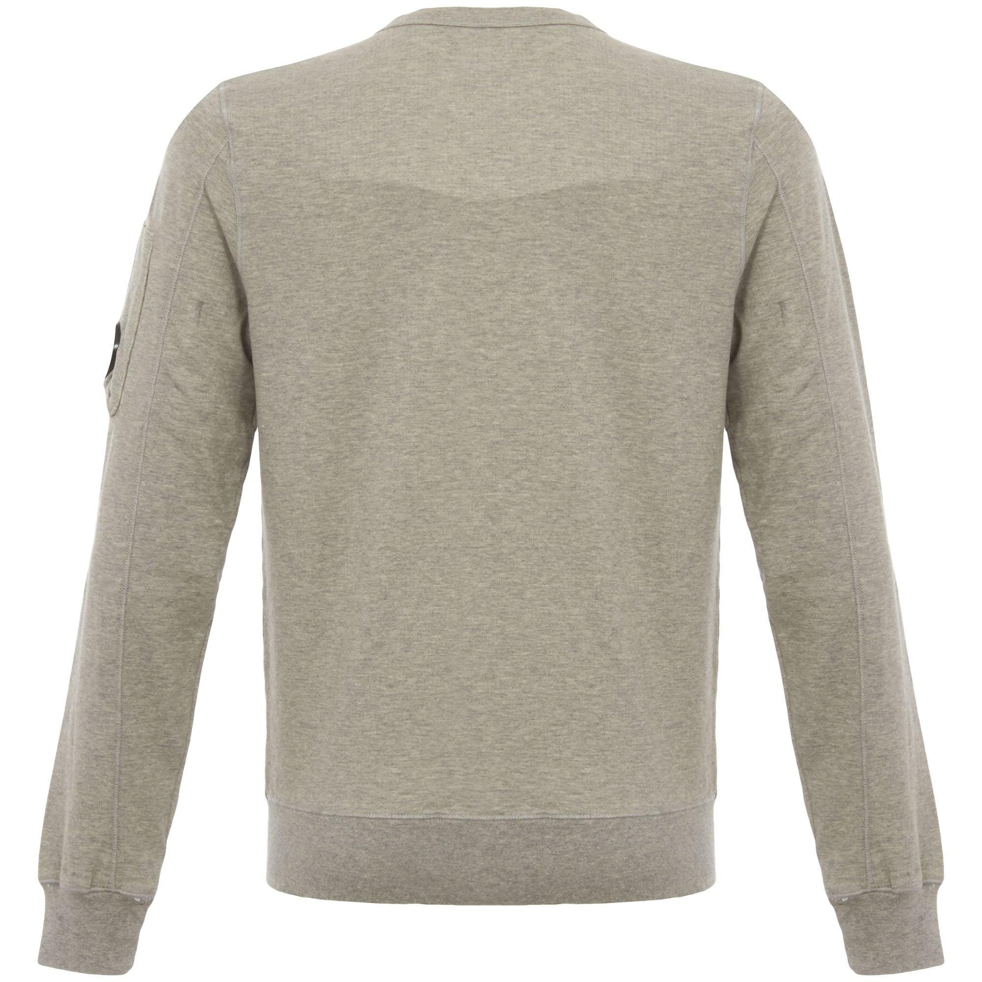 Lyst - C P Company Grey Melange Crew Neck Felpa Sweatshirt in Gray ... 2928d40cbdc