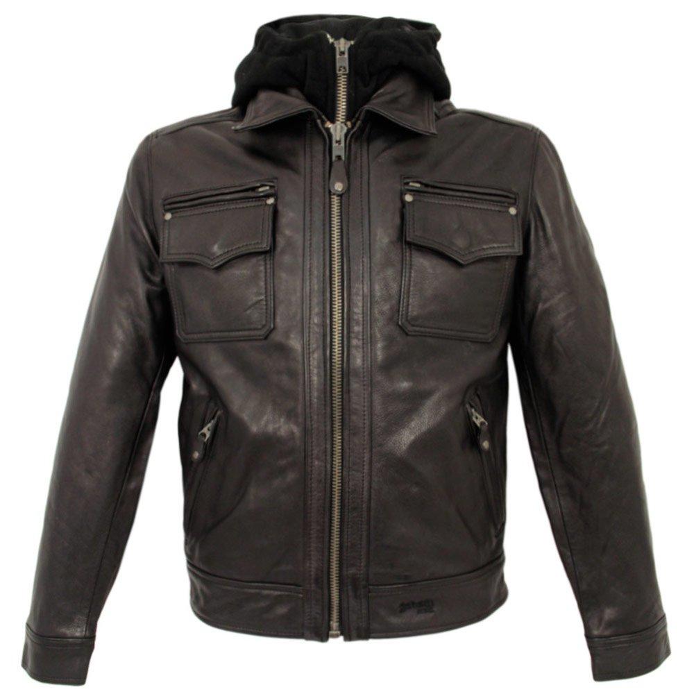 schott nyc lc8102 dark brown police jacket in brown for men lyst. Black Bedroom Furniture Sets. Home Design Ideas